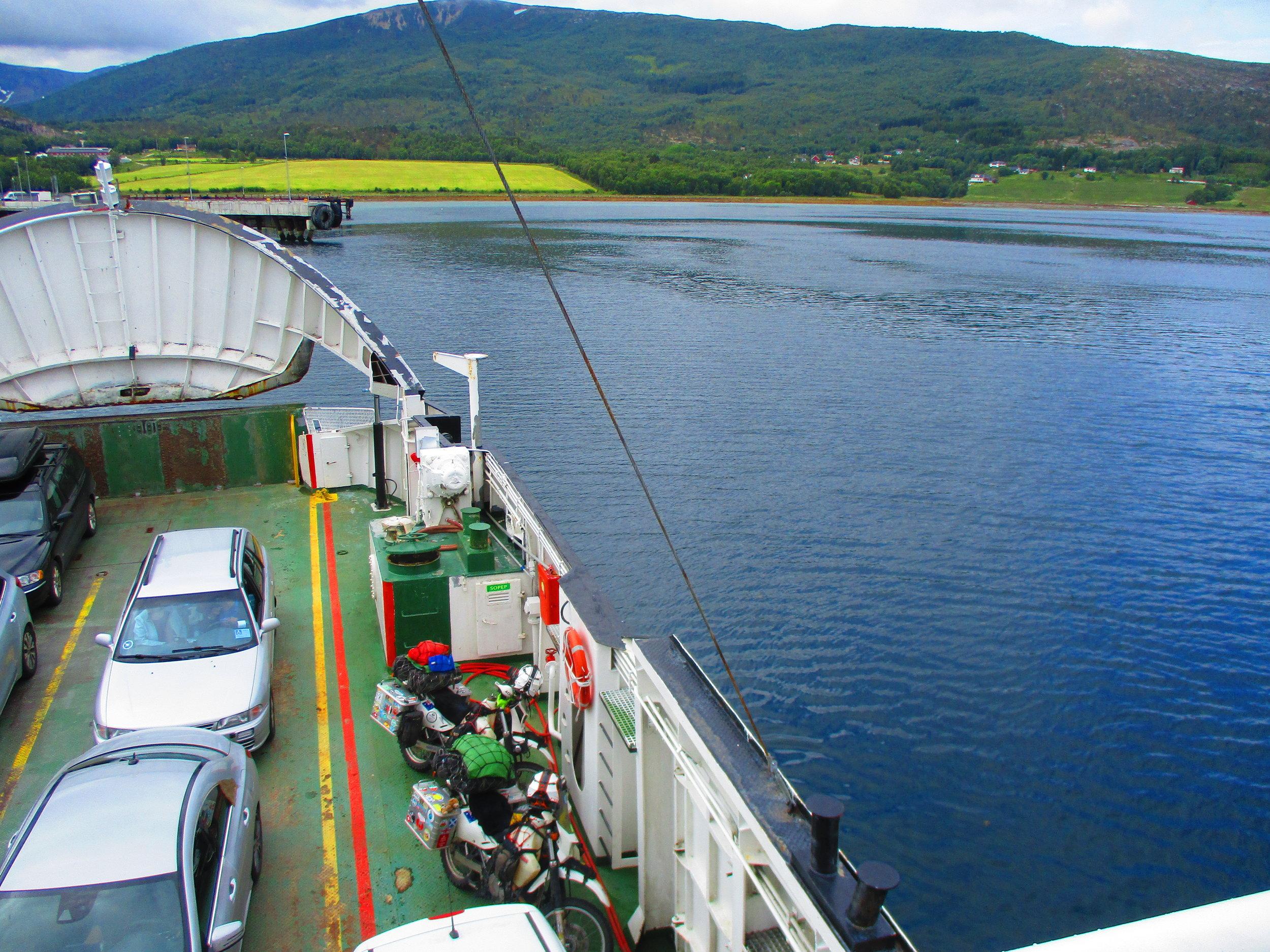 Ferry leaving Bognes
