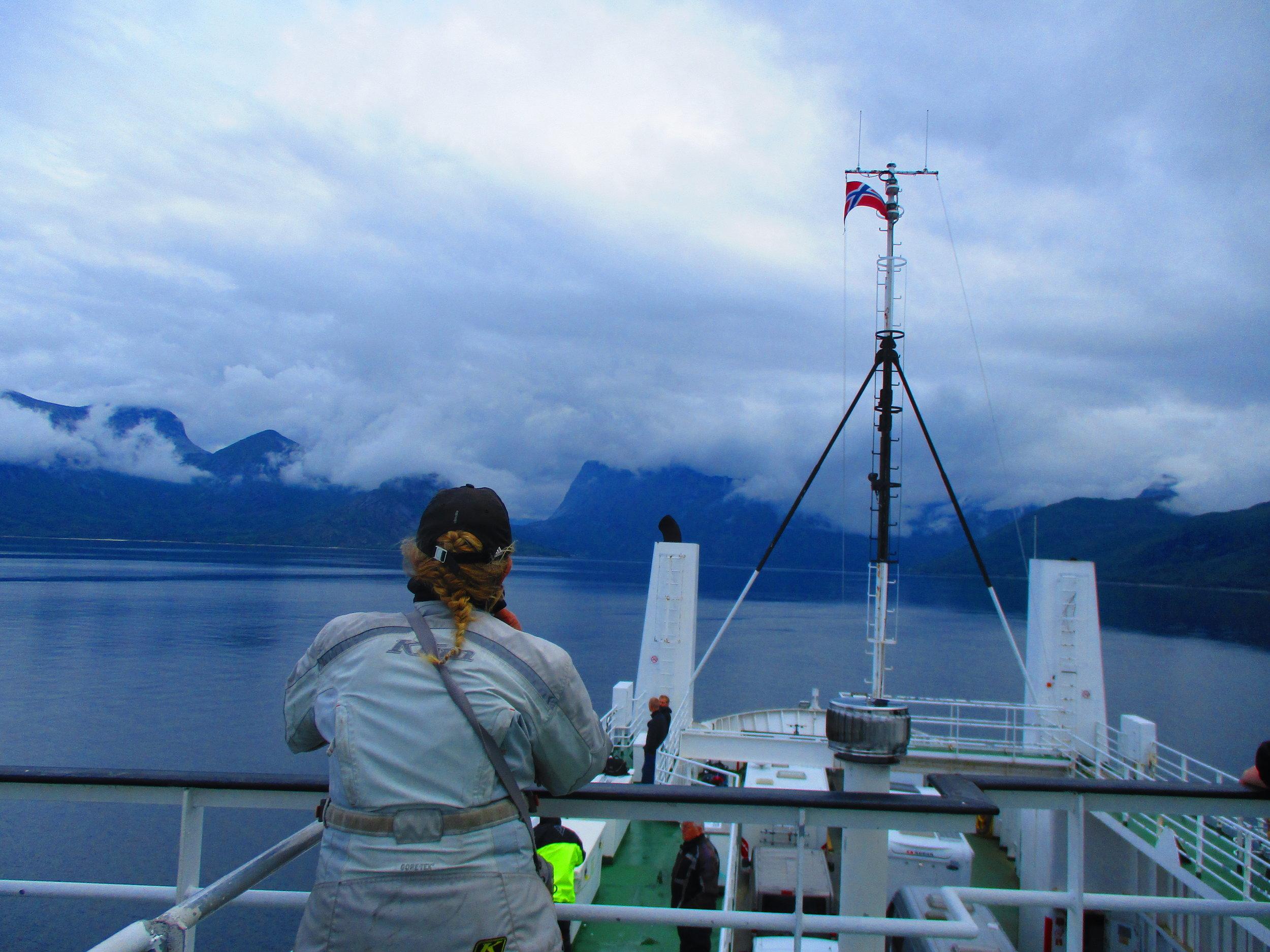 Ferry crossing from Bognes