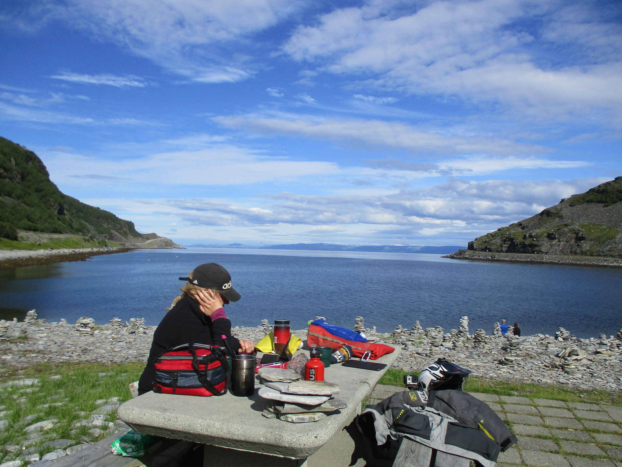 Lunch stop on the way to Magerøya Island