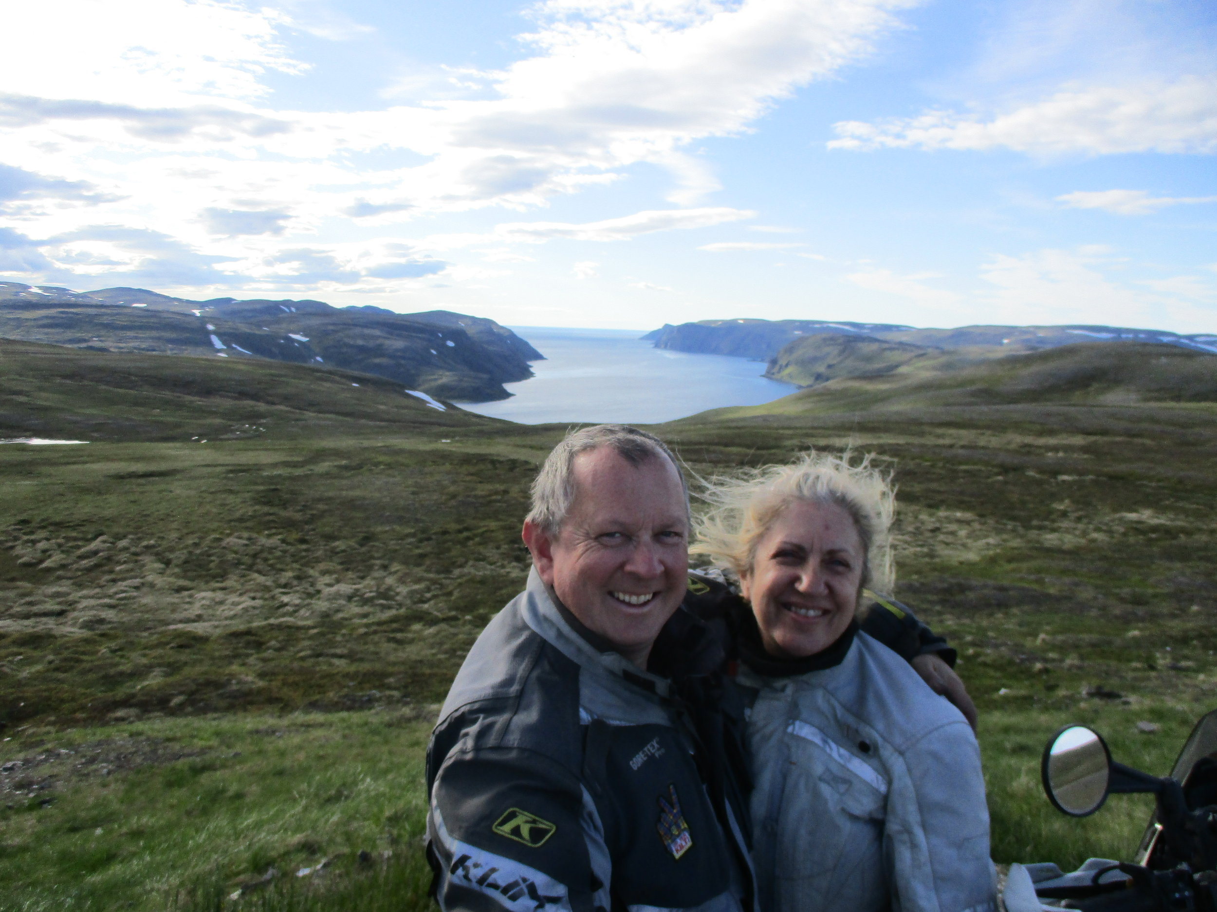On the way up to Nordkapp