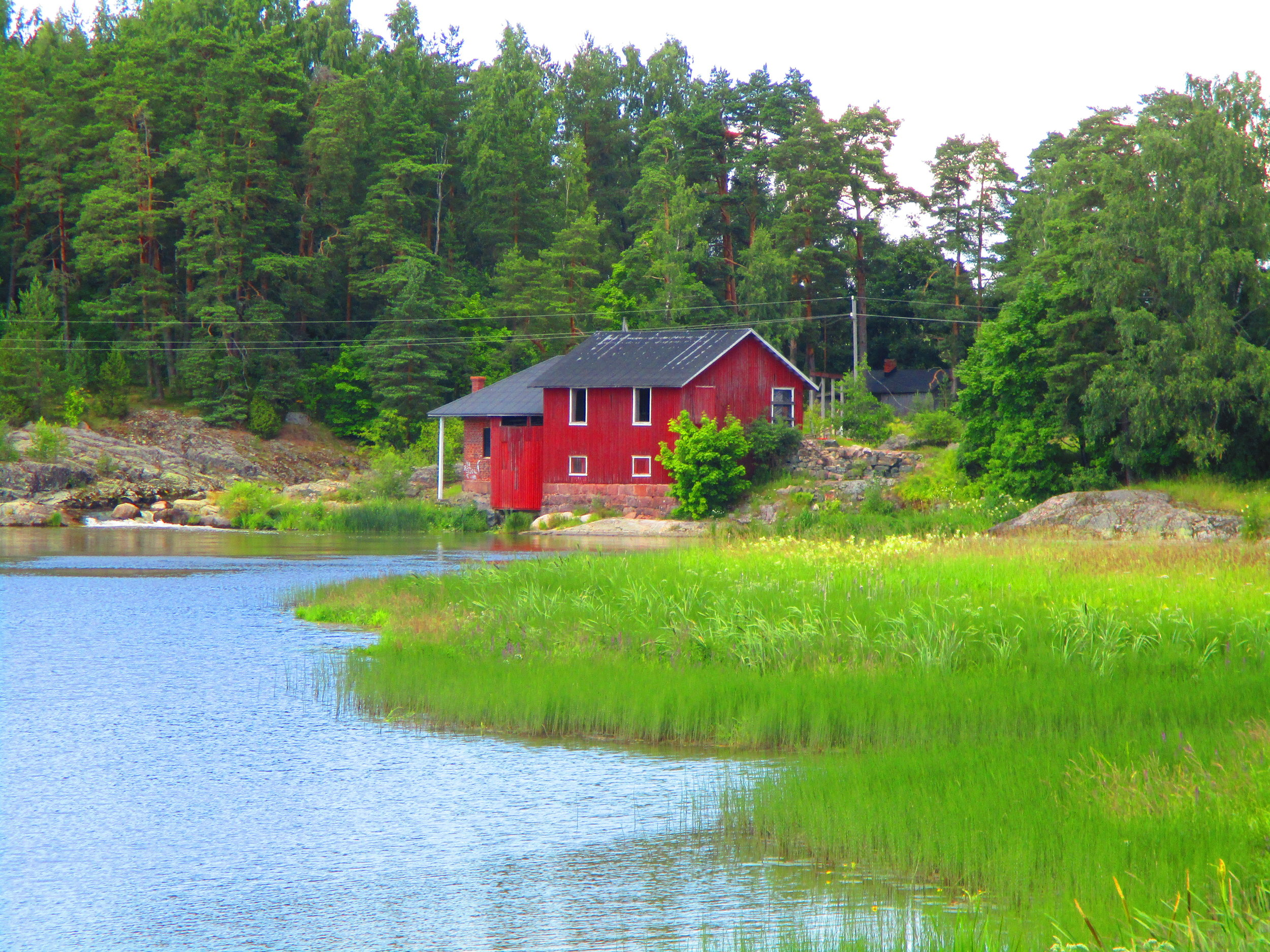 Finland - a house by water