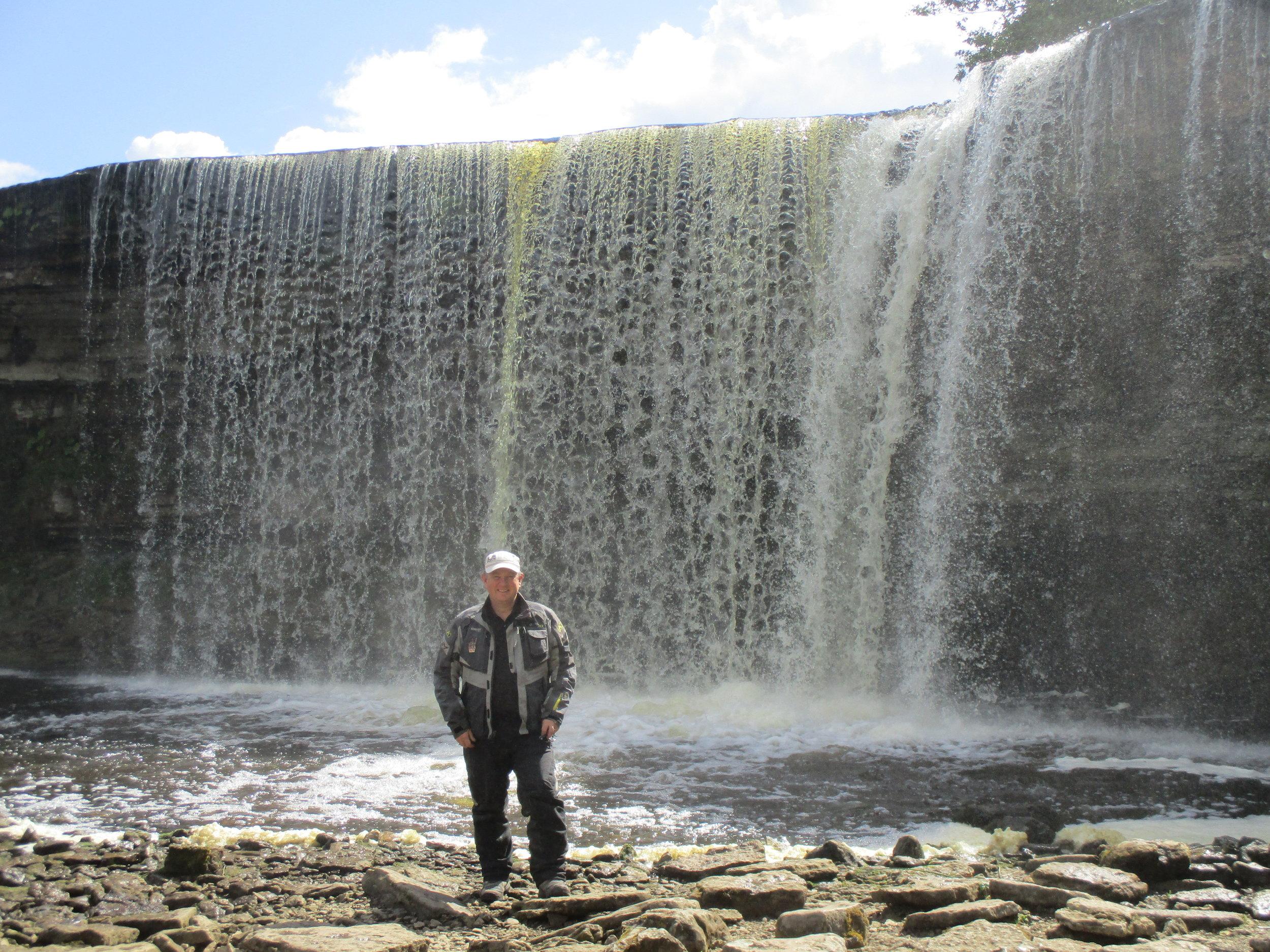 The Jõelähtme waterfall, Estonia