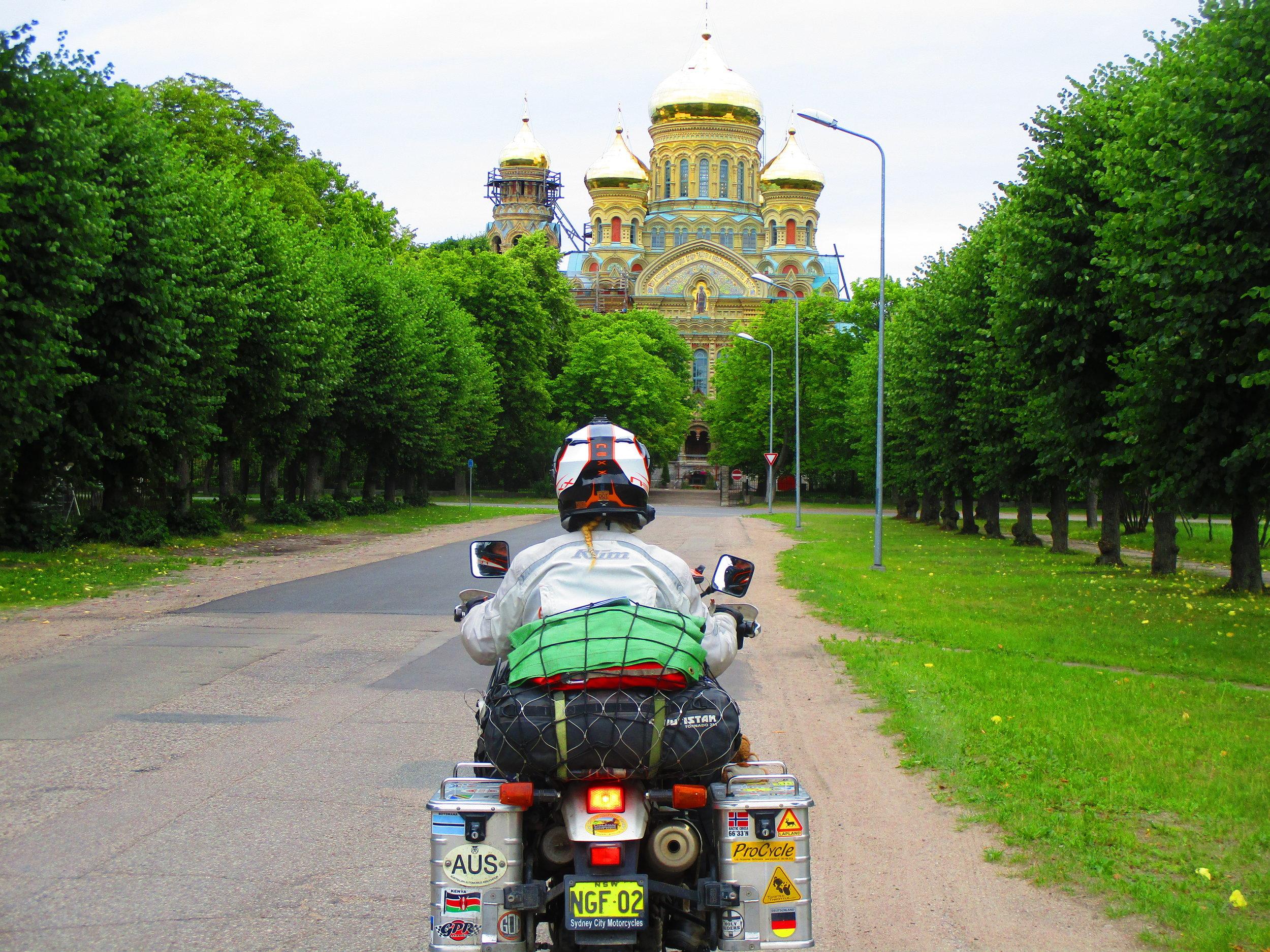 The Orthodox church in Karosta, Latvia