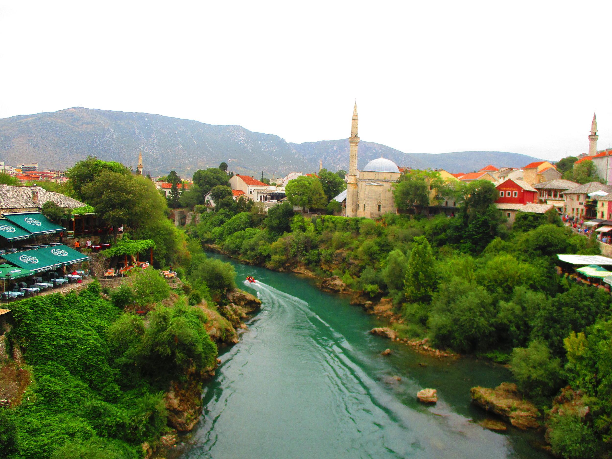 The city of Mostar, Bosnia and Herzegovina