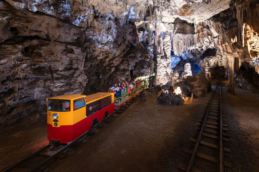 Postojna cave train, Solvenia