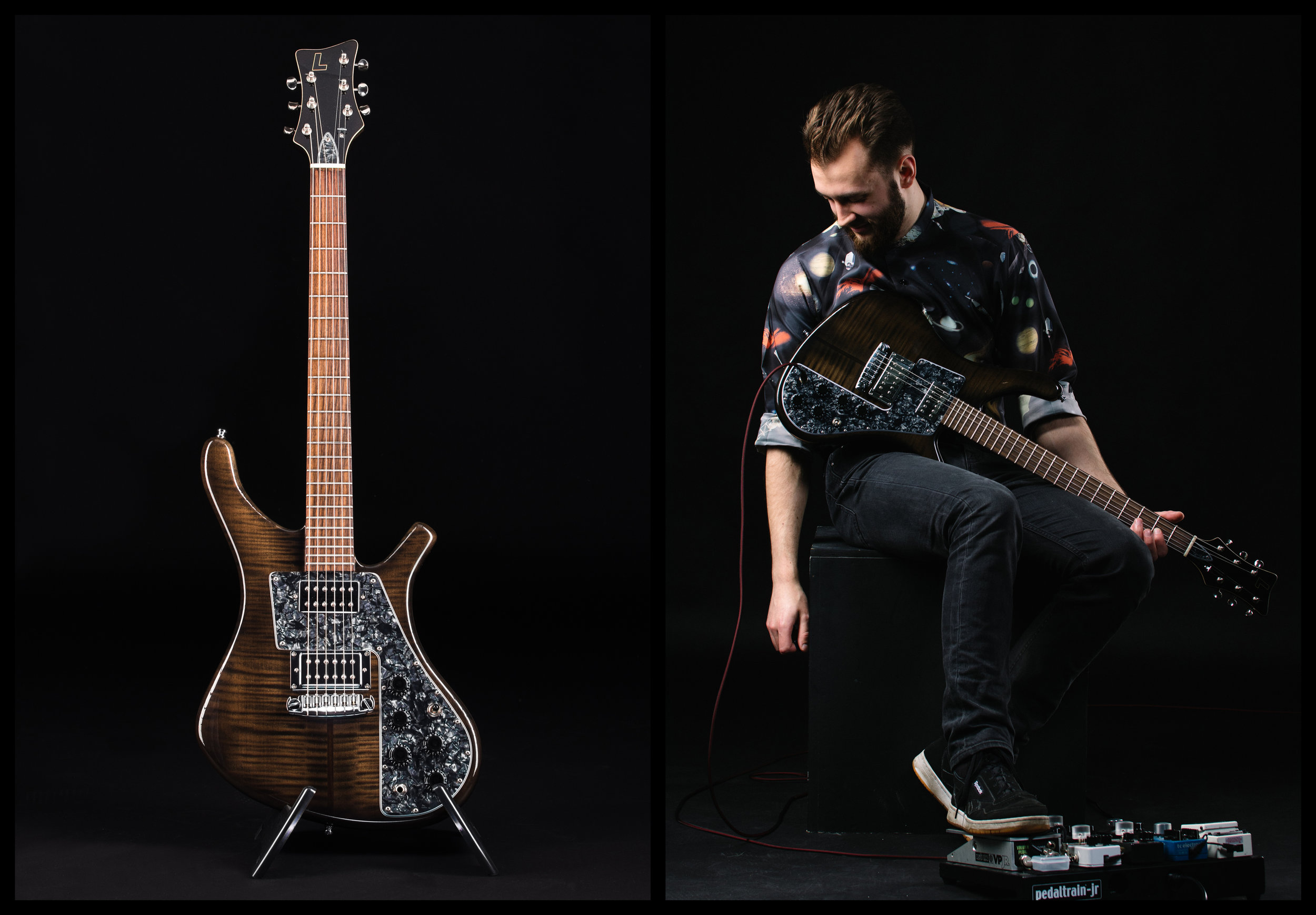 Jack Hinks & his Lucem 'Hinks Paradox' for Lucem Guitars