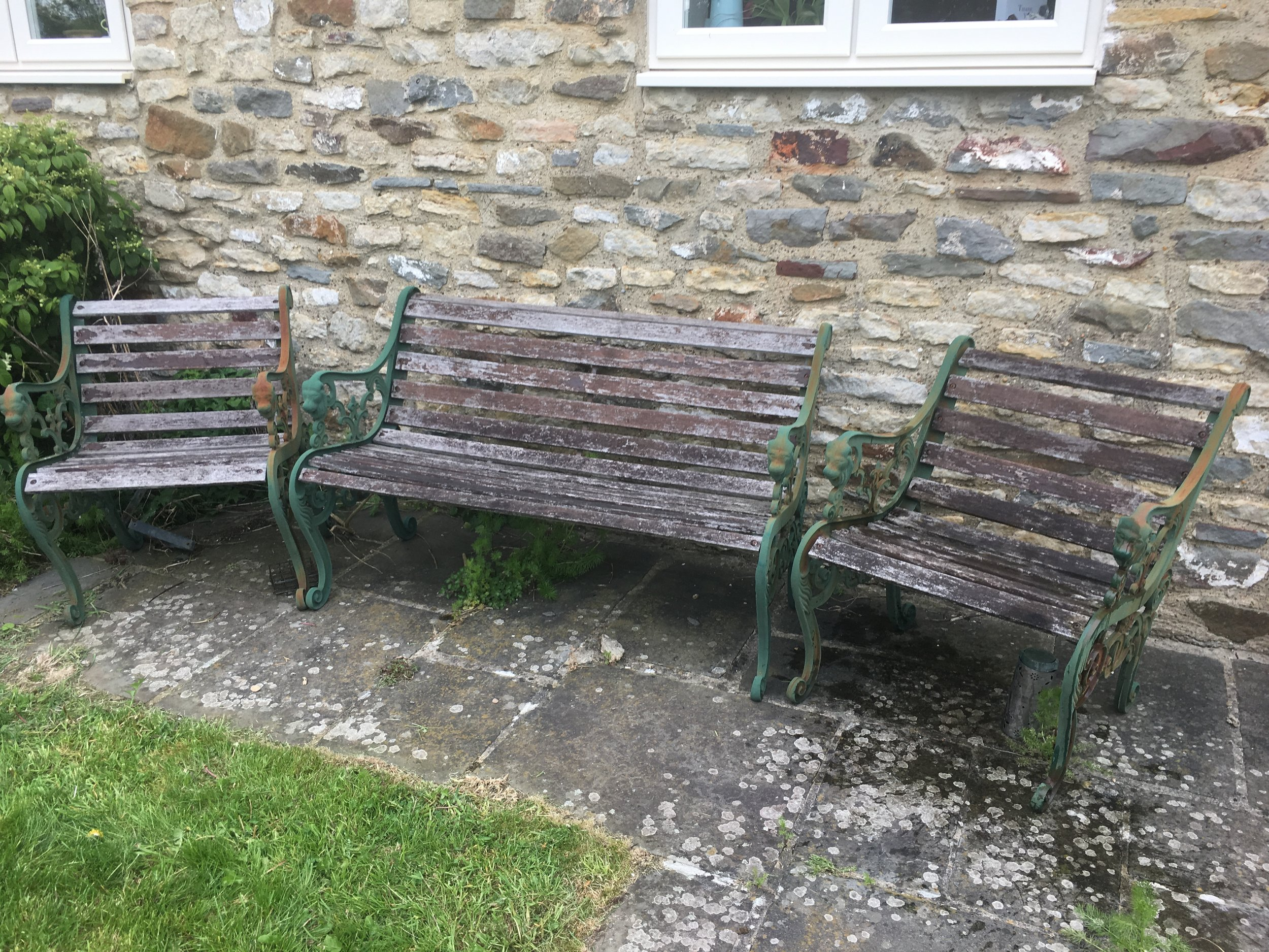 My sad & neglected bench & chairs