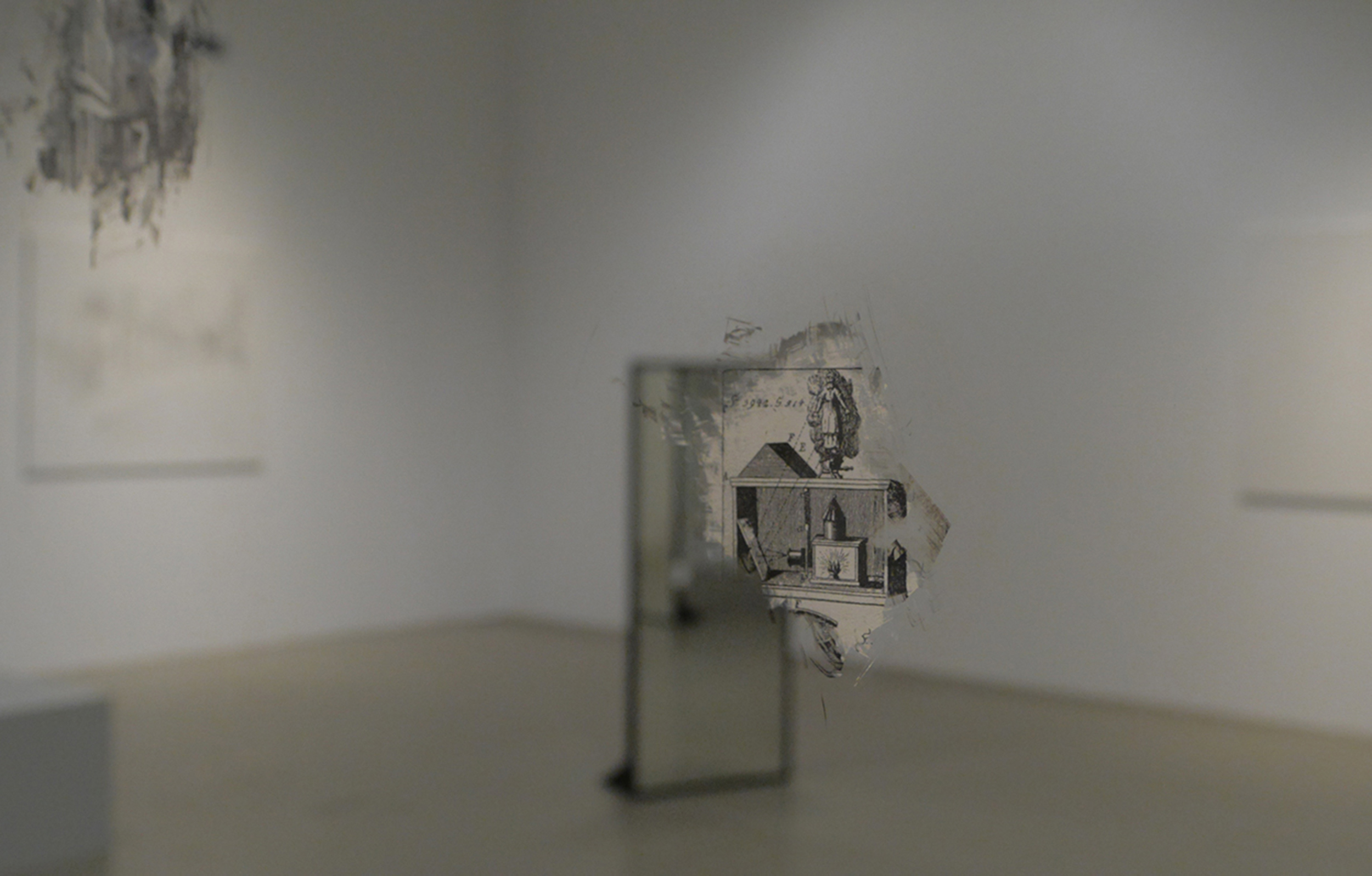 Lantern of prague,  2014 Paper behind glass, 70 x 70 cm