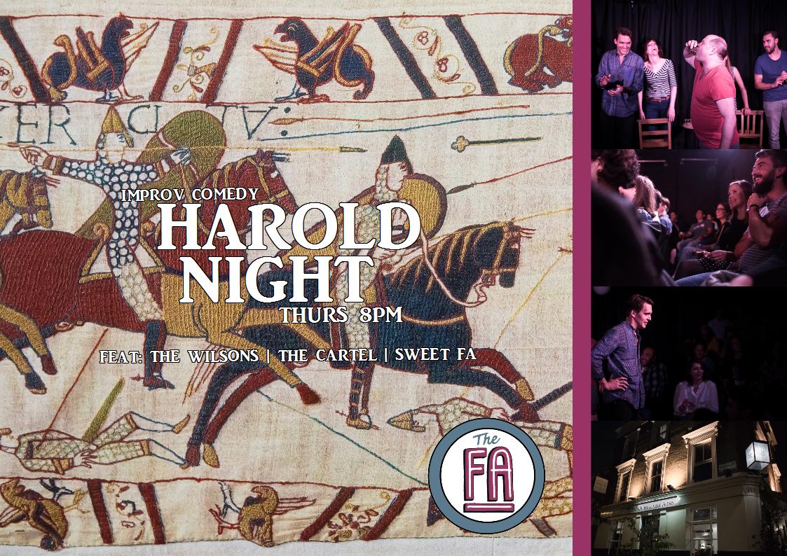 harold, improv, comedy, cartel, sweet fa, london,