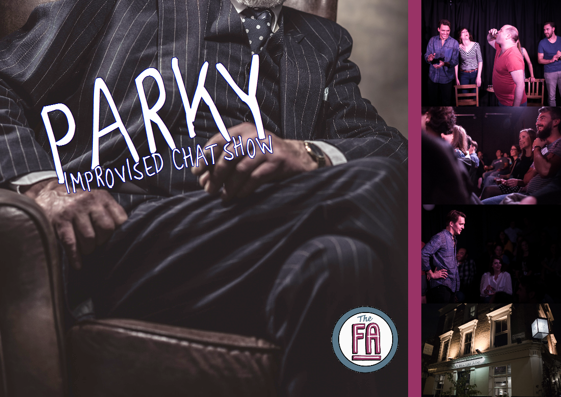 Parky, improv, comedy, standup. sketch, funny, music, london