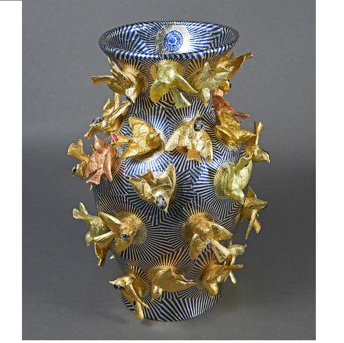 Simon Ward & Robert Mach 'Foiled Vase' (2017)