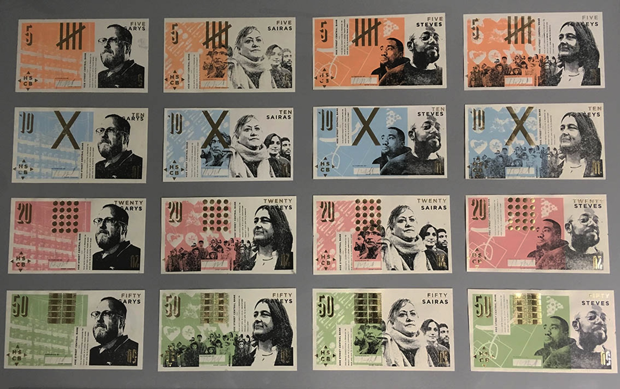 Hilary Powell, Banknotes from The Rebel Bank (2018). Image courtesy the artist.