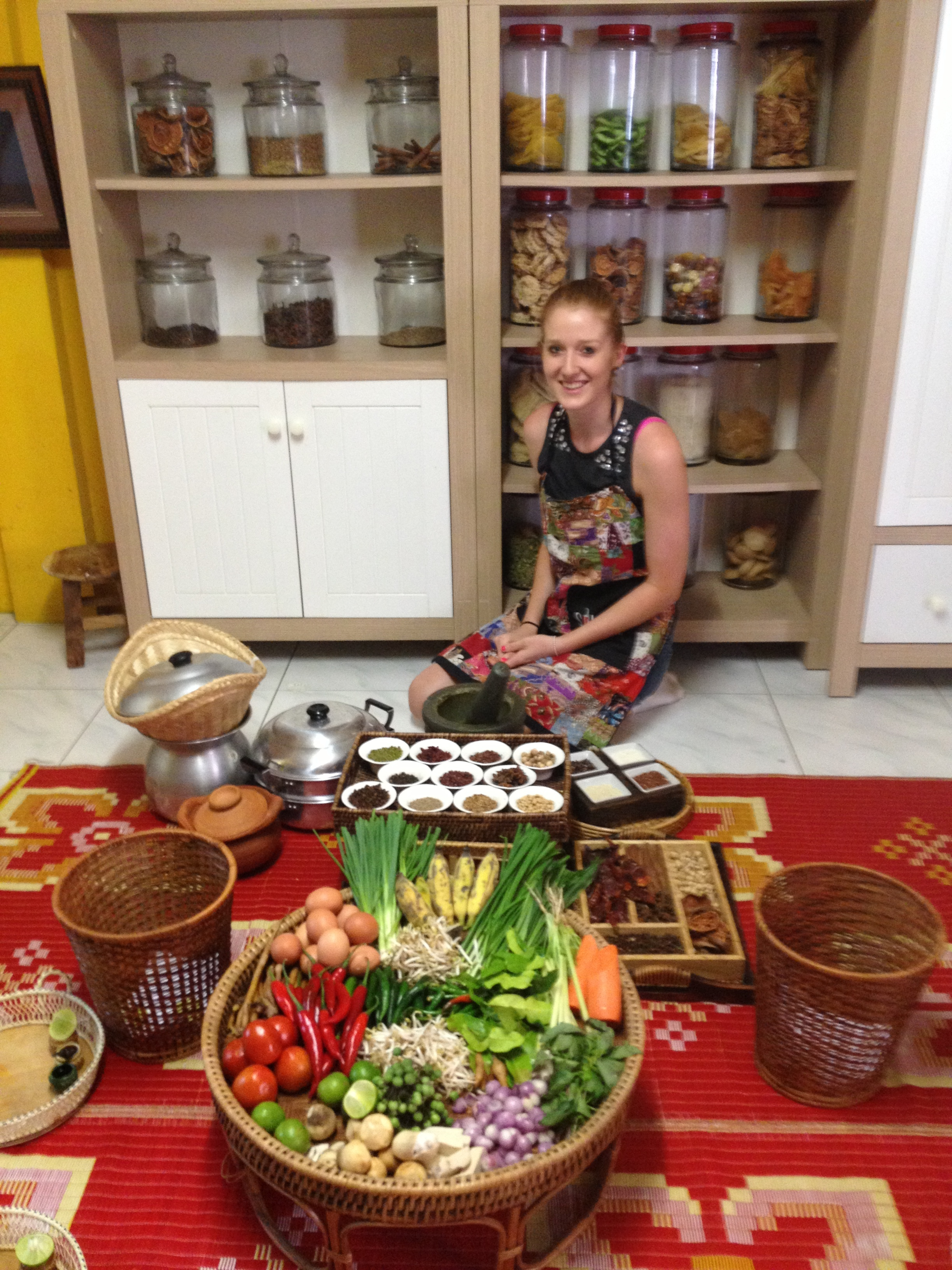 Me in a cooking class in Bangkok, Thailand