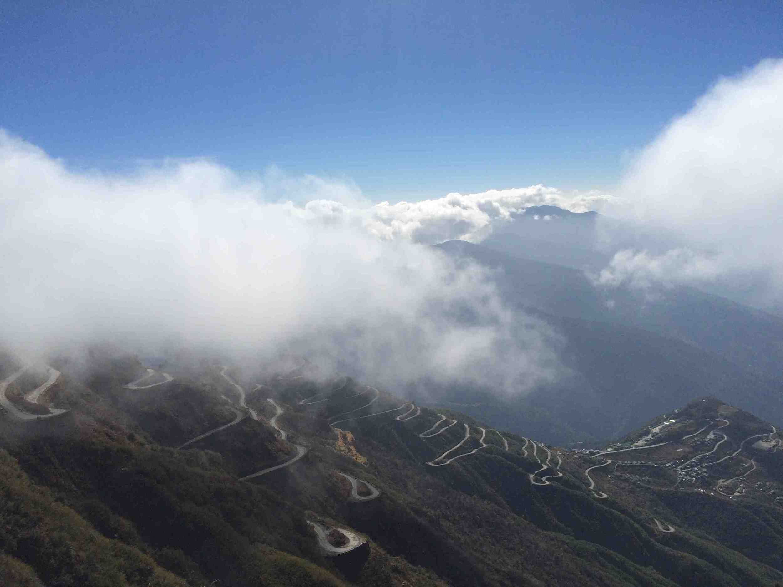 One of its kind......... Zig Zag road in Zuluk