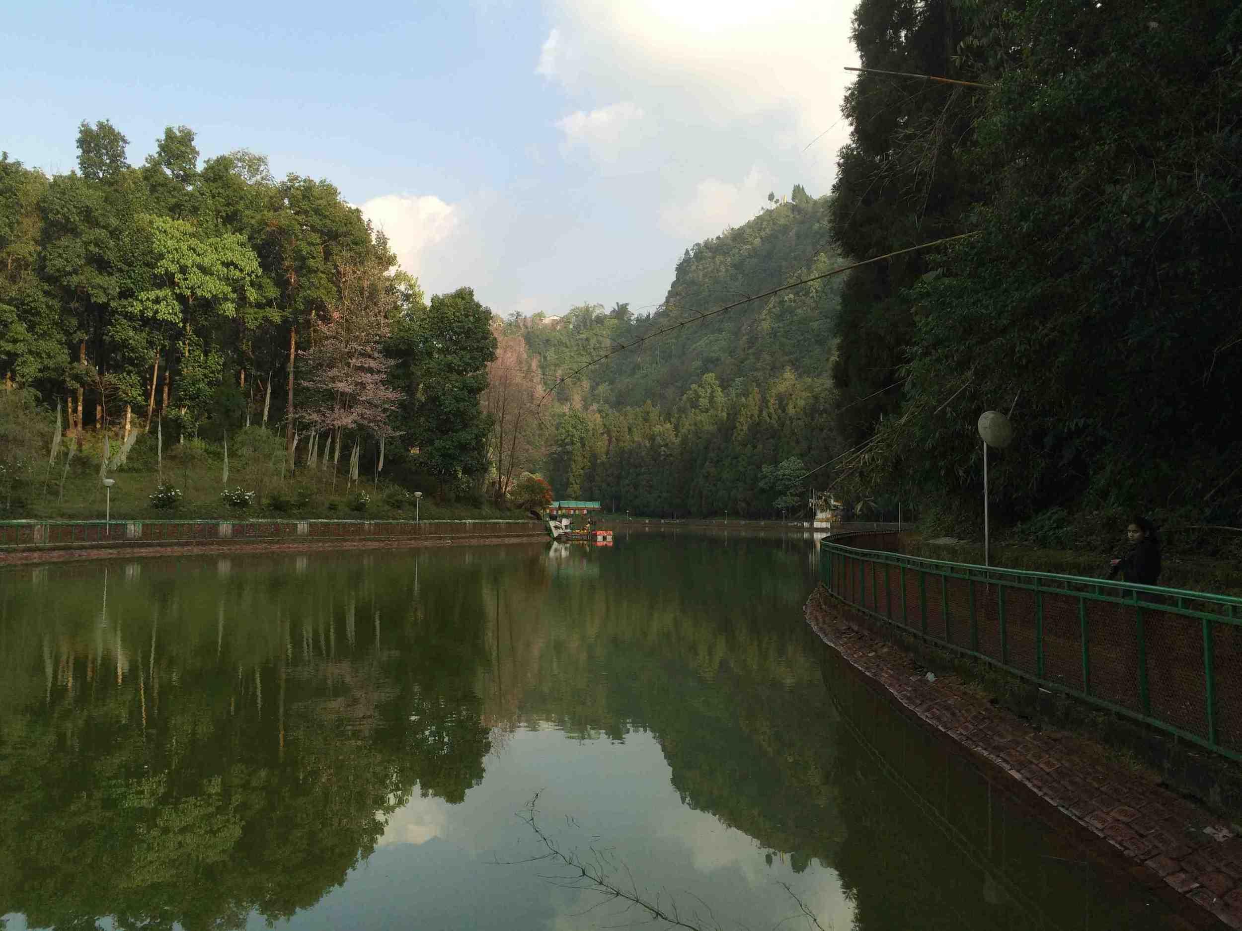 Serenity amongst the lush.....Lampokhri lake