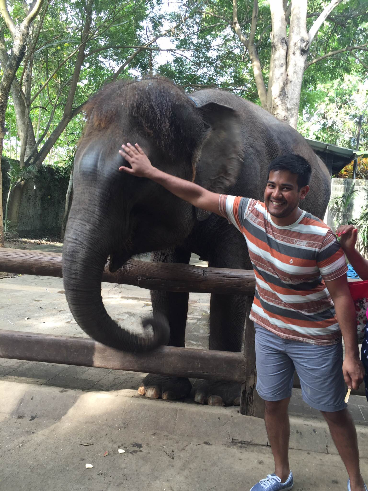 That's me with a Baby Elephant