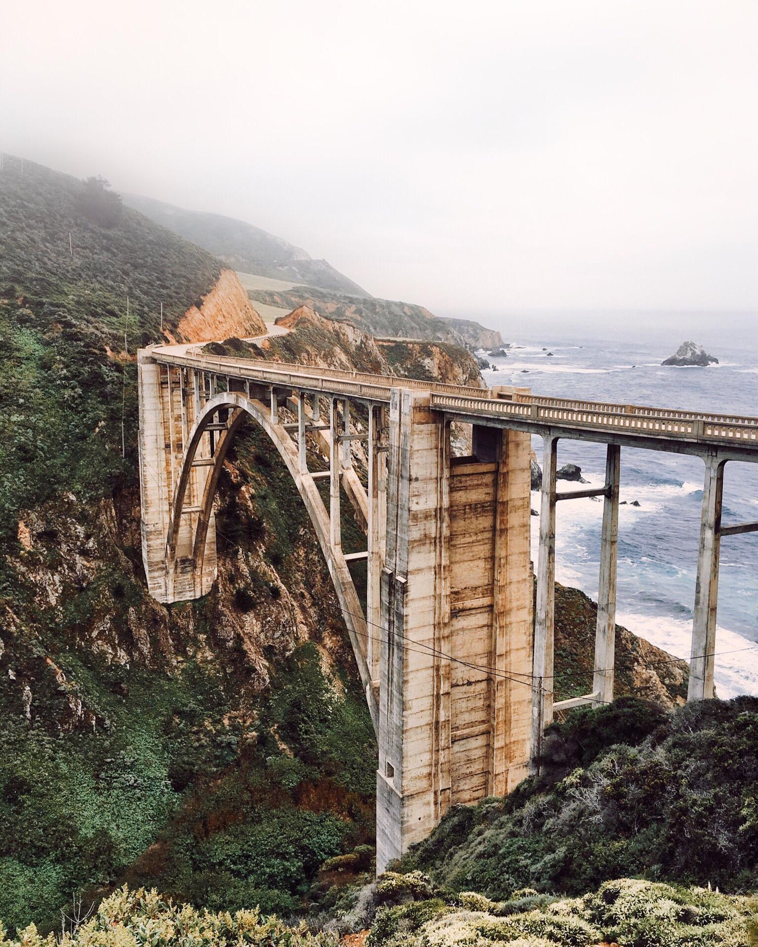Bixby Creek Bridge......an unmissable landmark you sure saw on movies and TV!
