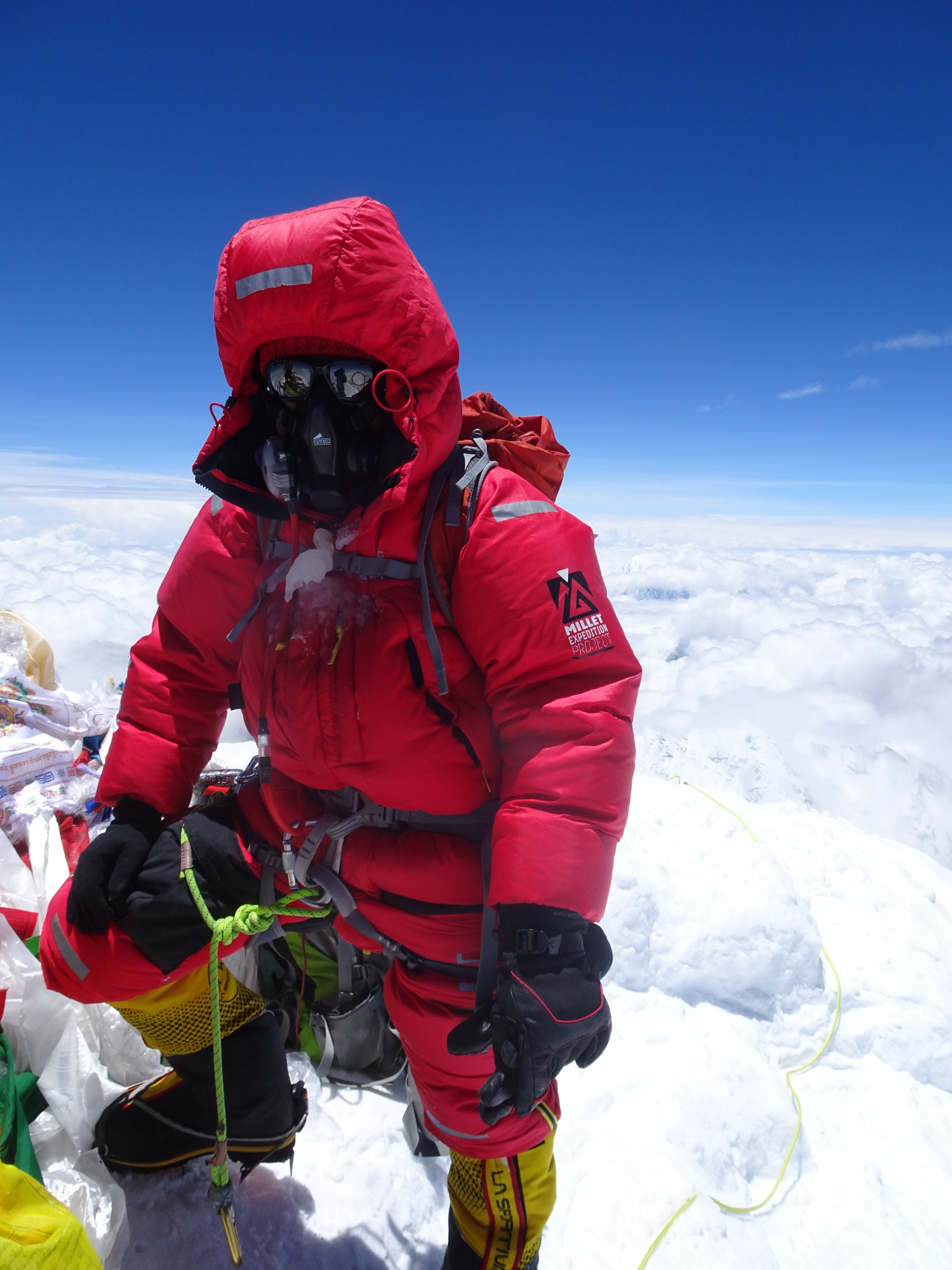 On way to scale Mt Everest