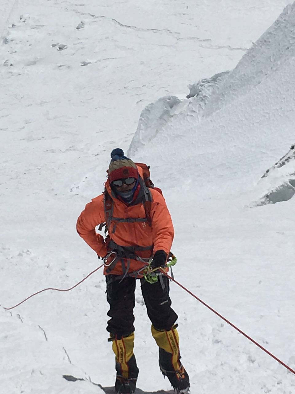On her way to scaling Mt Everest