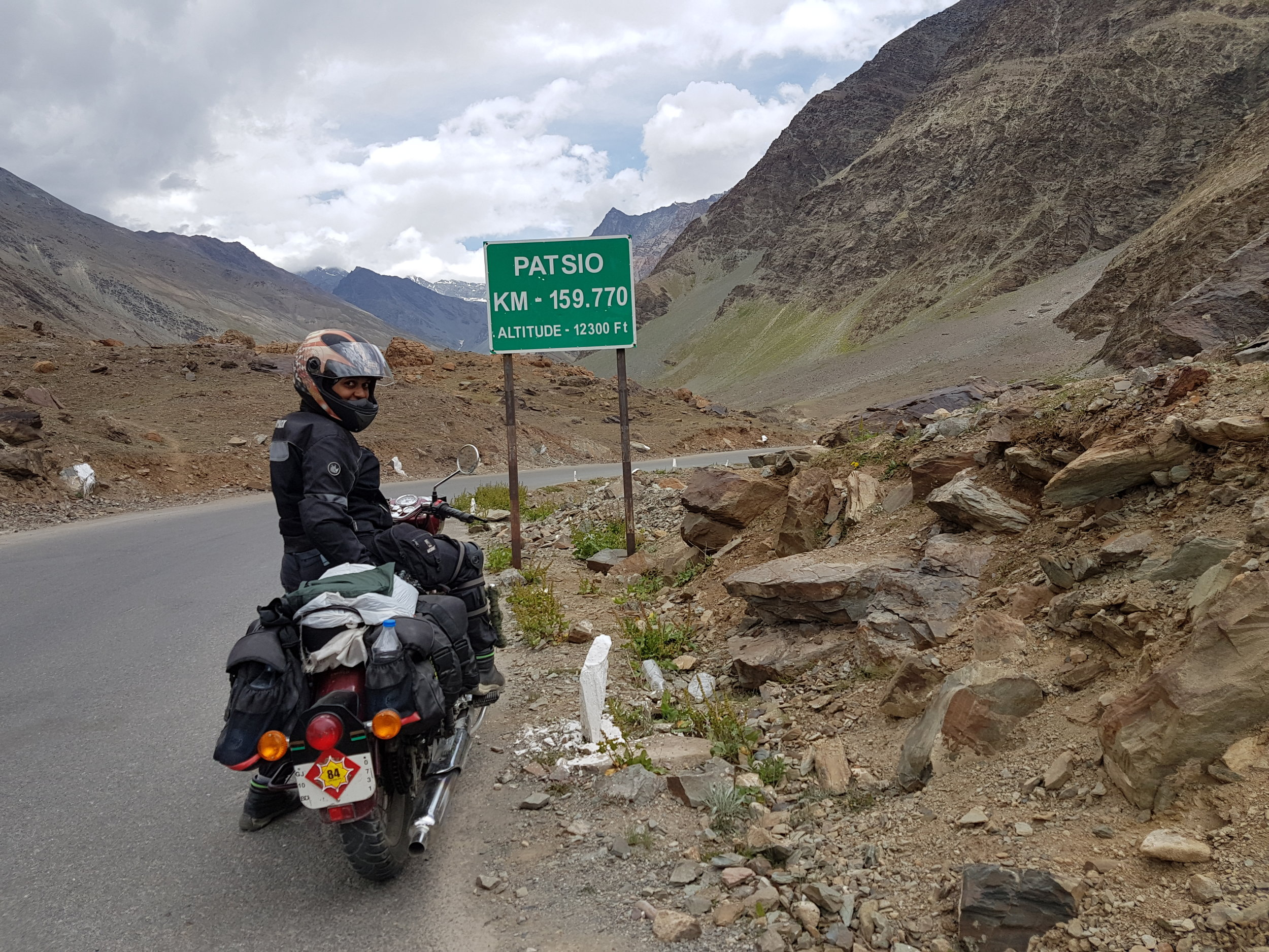 Me, my bike and the lonely road