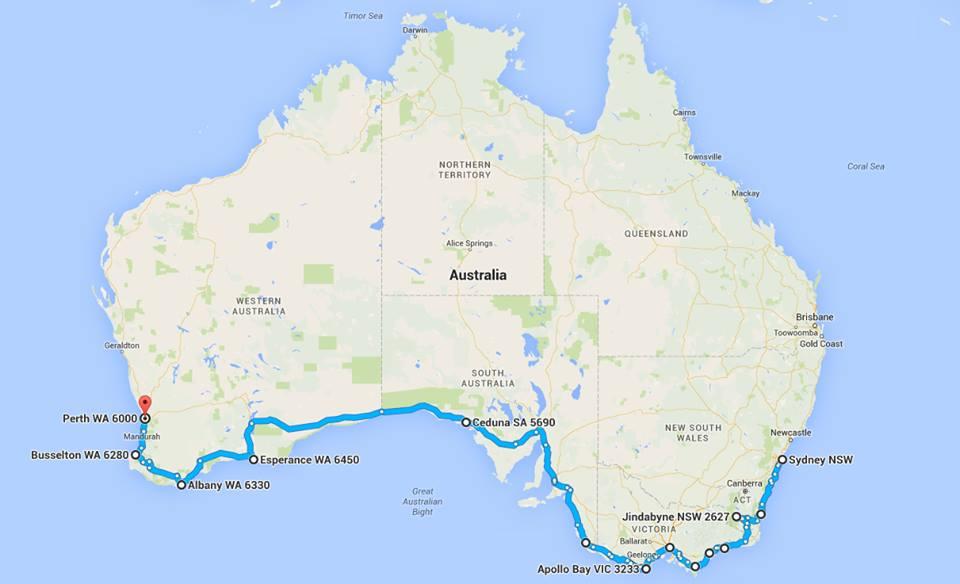 The bike route!