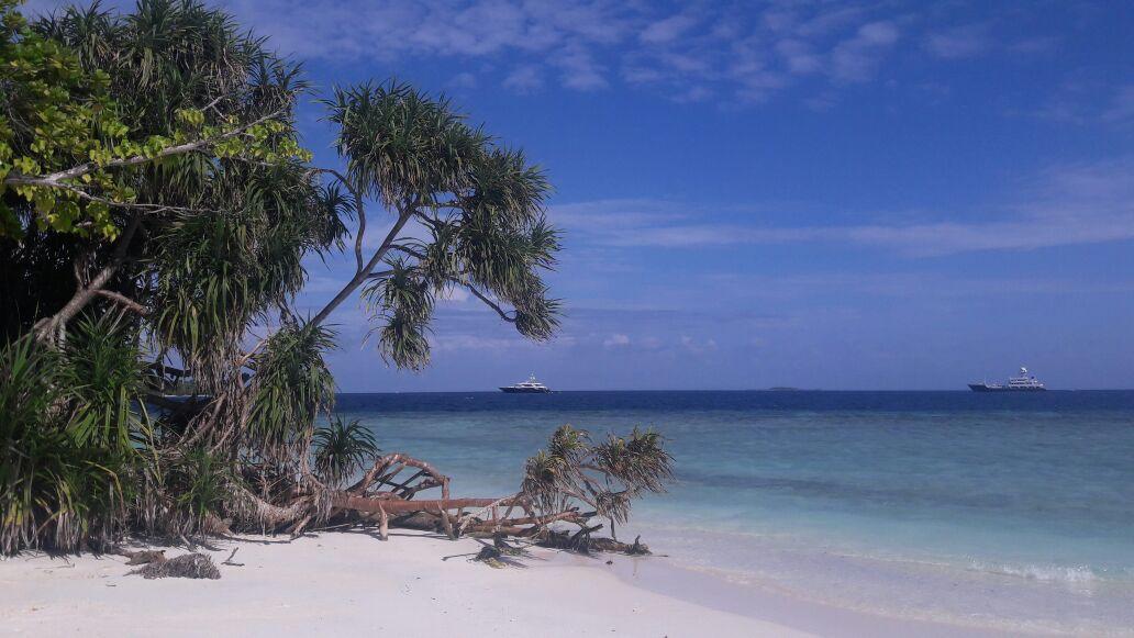 The view from the beach of Malahini Kuda Bandos!