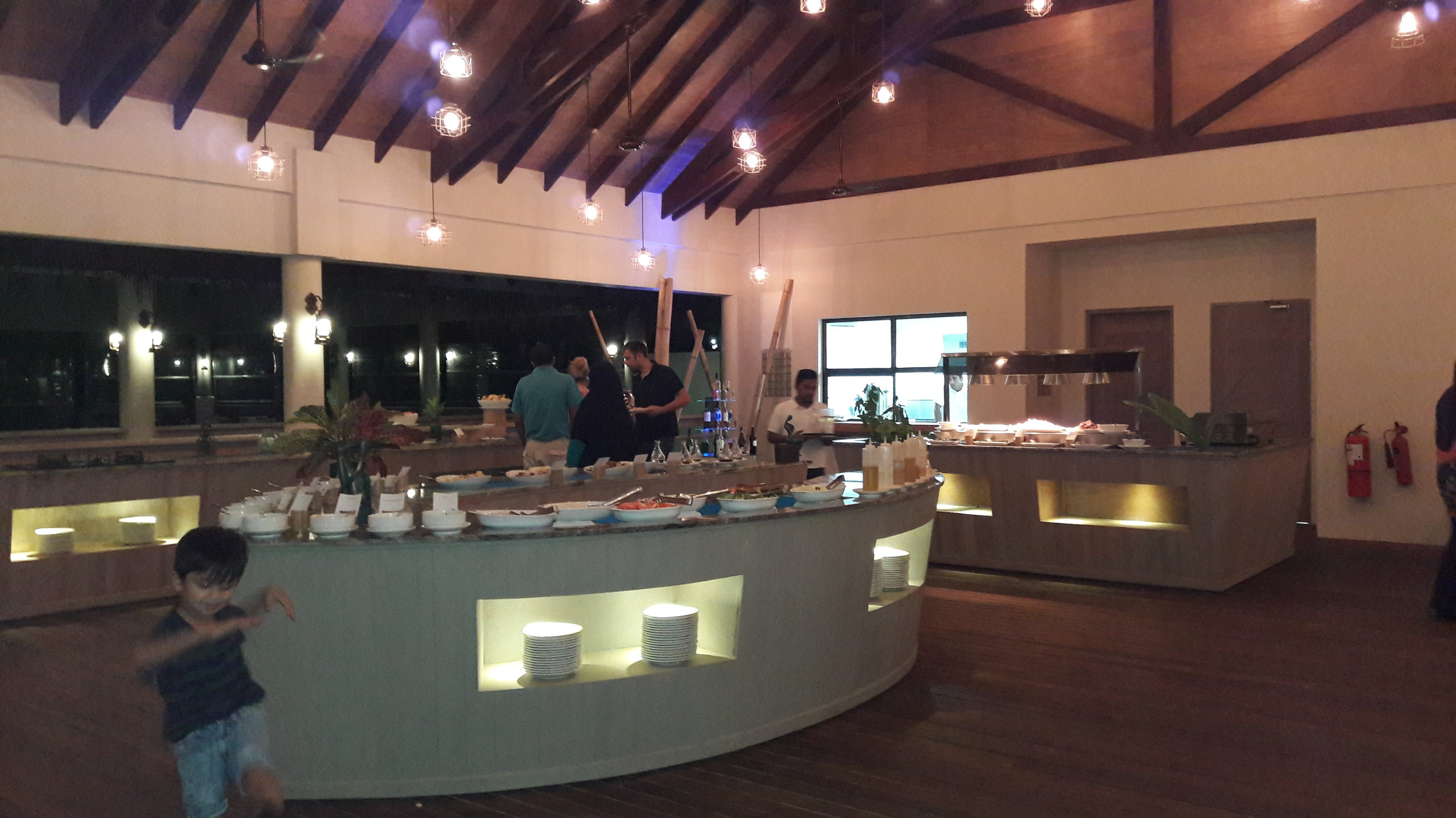 The Buffet area and right at the center is pickle and salad counter
