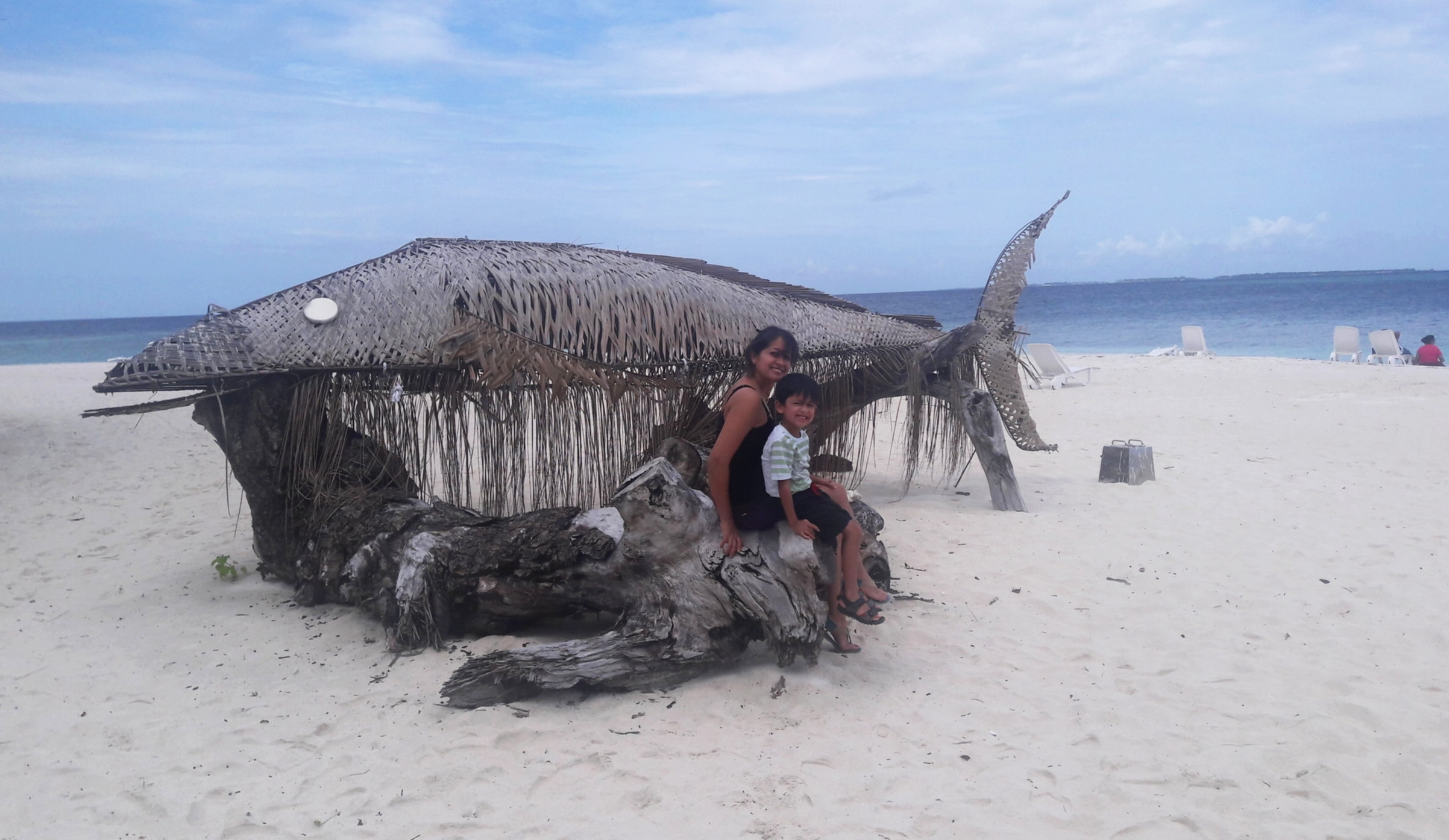That fish is made of Coconut tree leaf