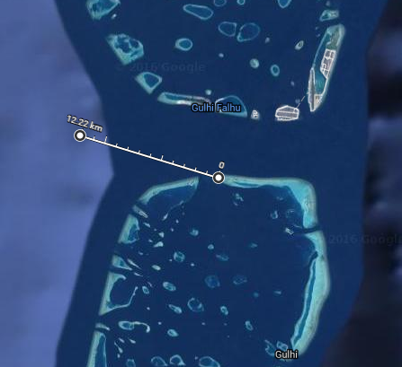 The drift and route taken by the sunbed  Image Credits:  MaldivesResortWorkers