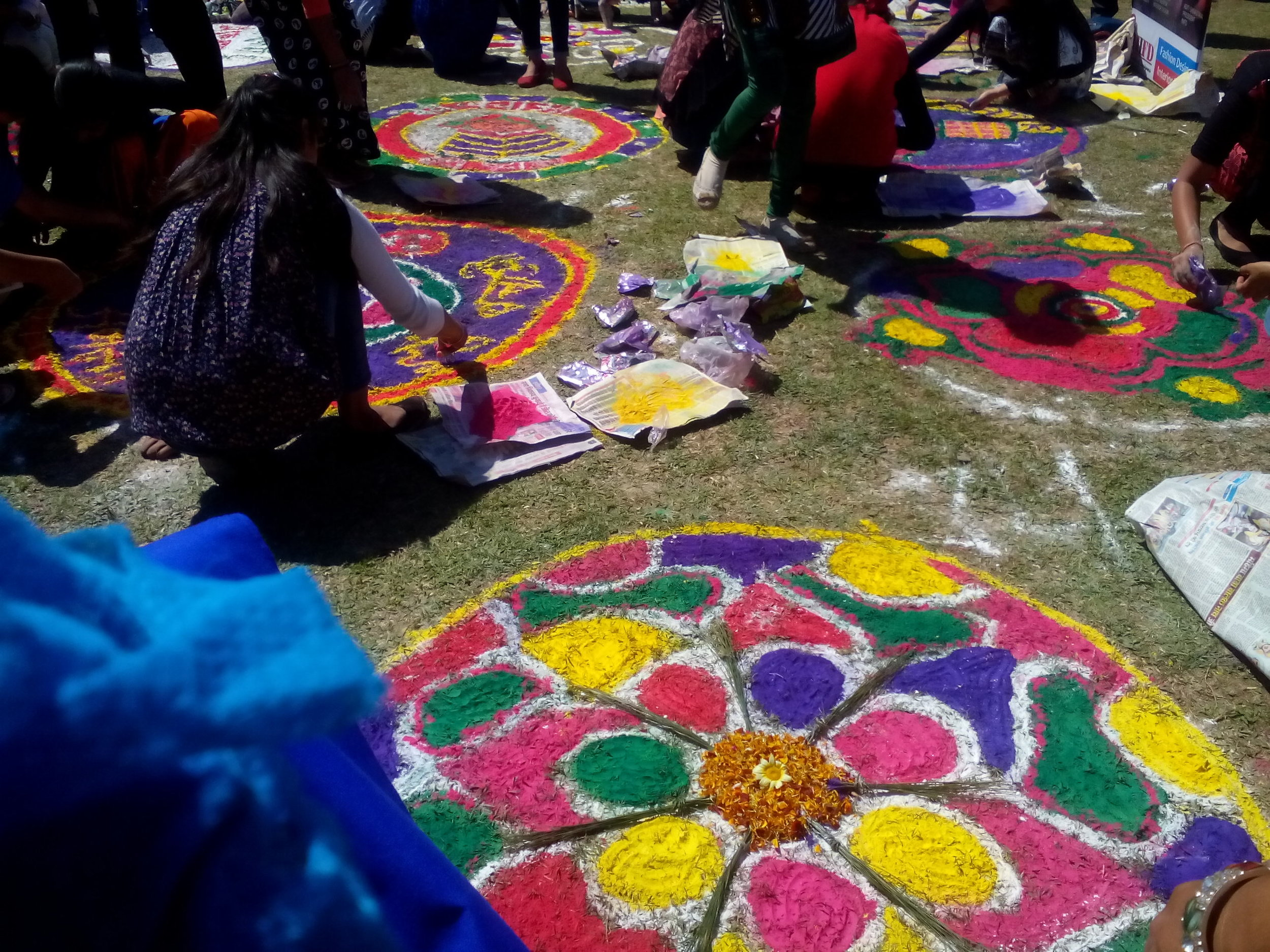 Rangoli Competition at Sujanpur Tira on Holi