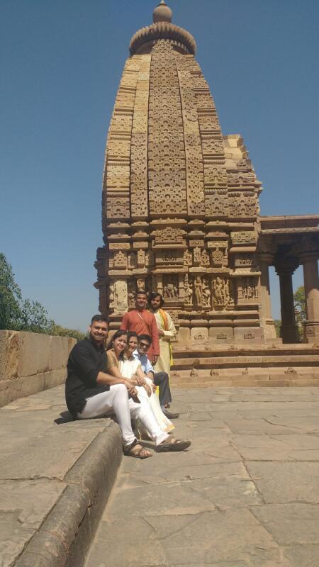 The Gang at Khajuraho
