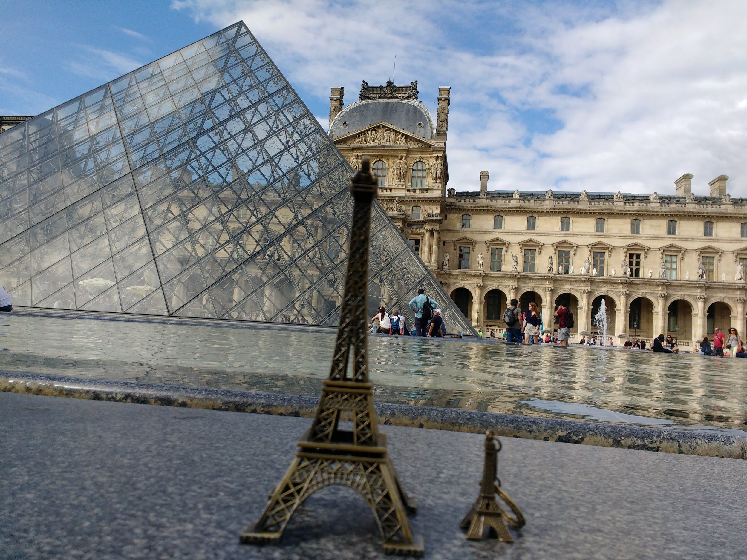 Home of Mona Lisa- The Louvre Museum in the Background