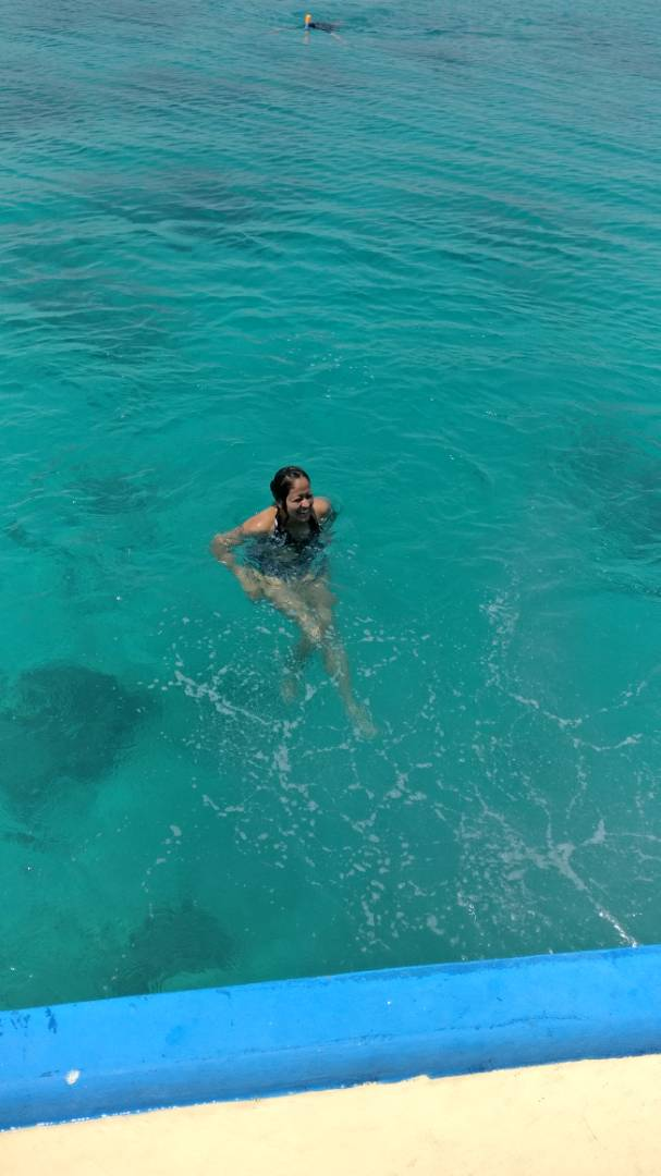 Jumps and dips after Snorkeling!
