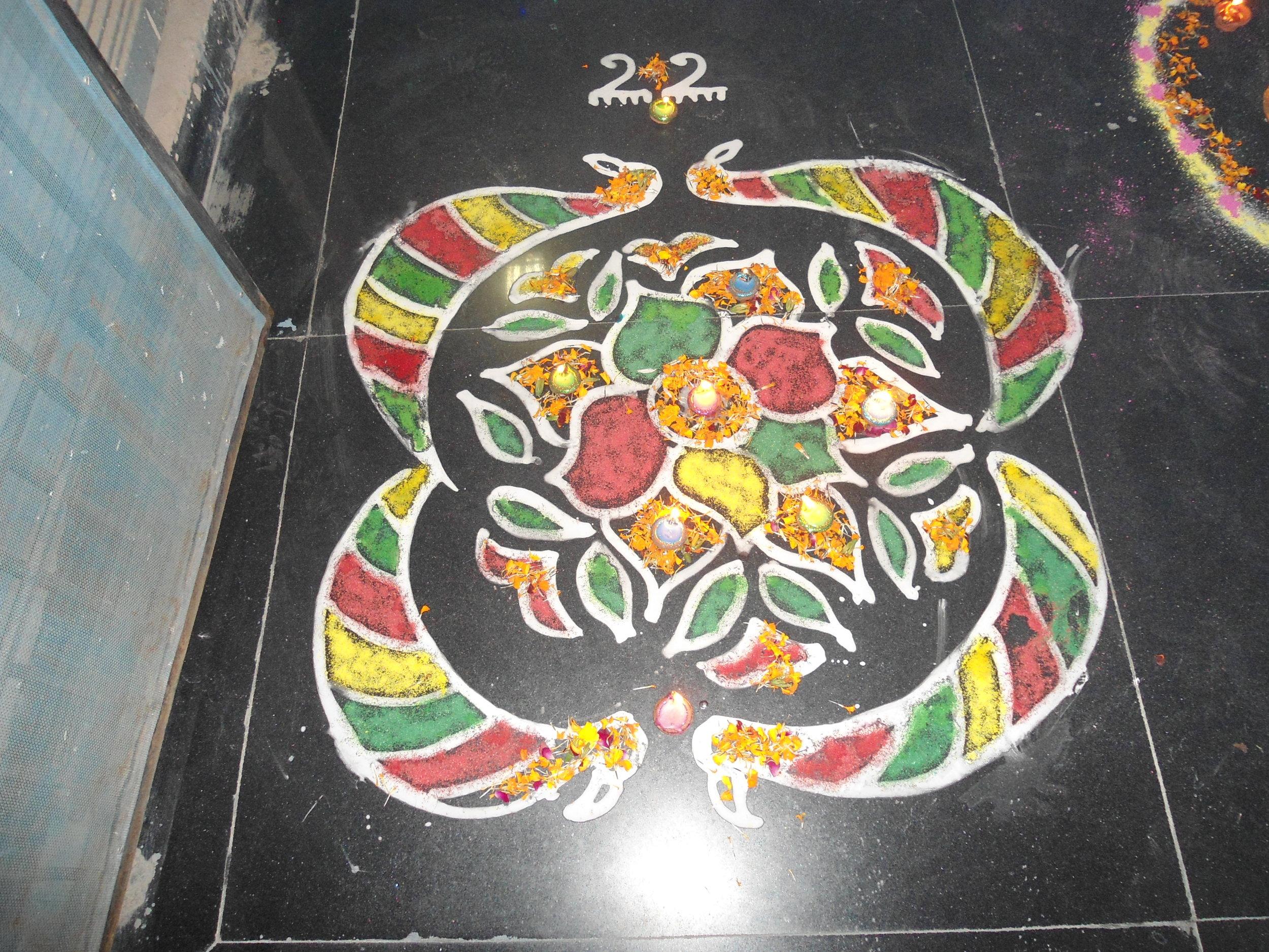 Kolam Design classes in Pondicherry