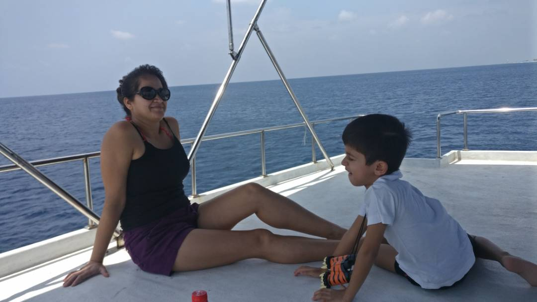We had a picnic on the Dive boat as in watched the divers go about their dives