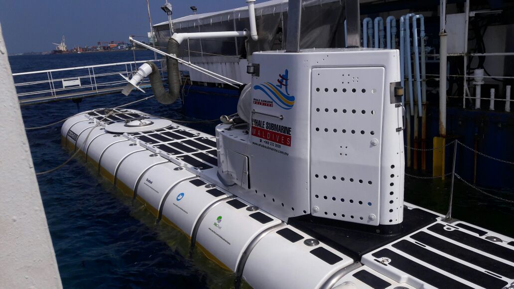 The submarine Maldives