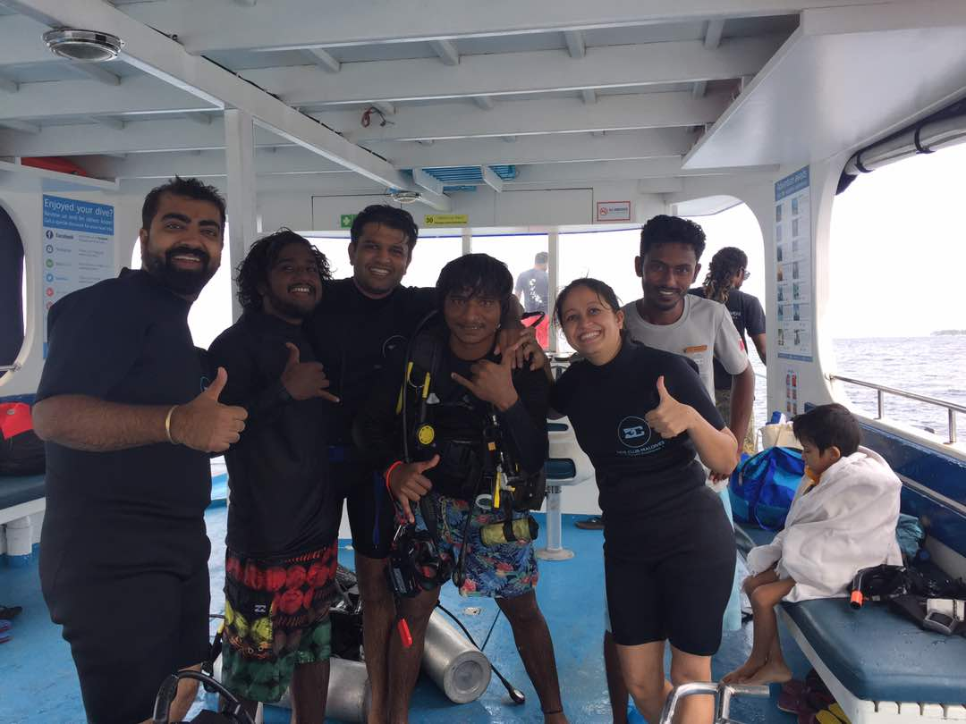We with our awesome divers after the first dive!