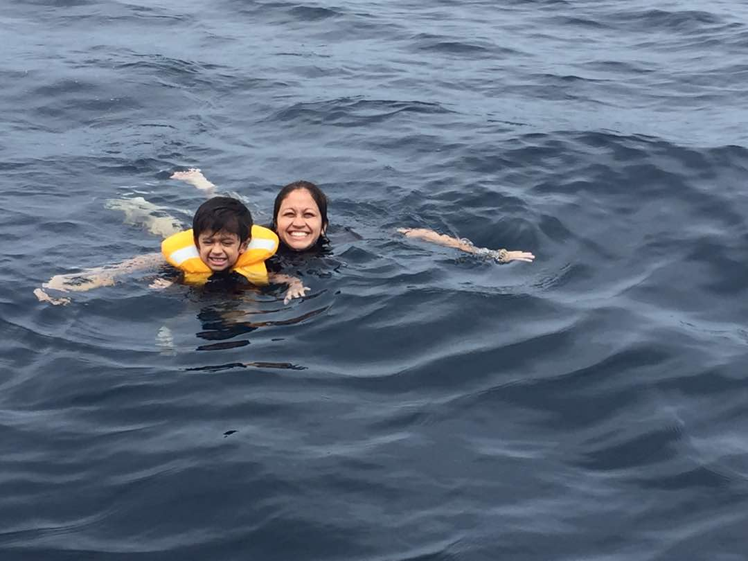 Swimming in Maldives