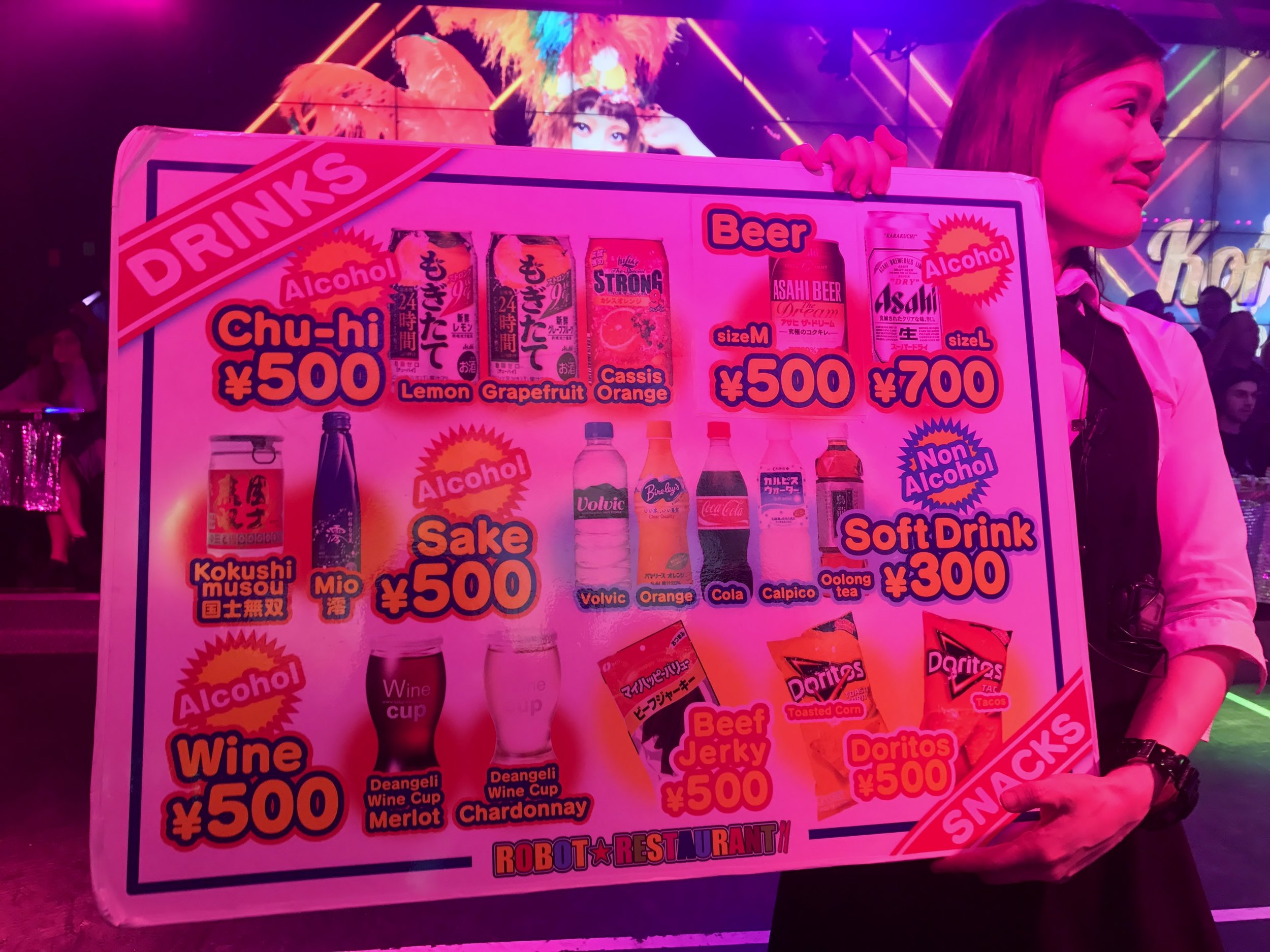 Robot restaurant Menu