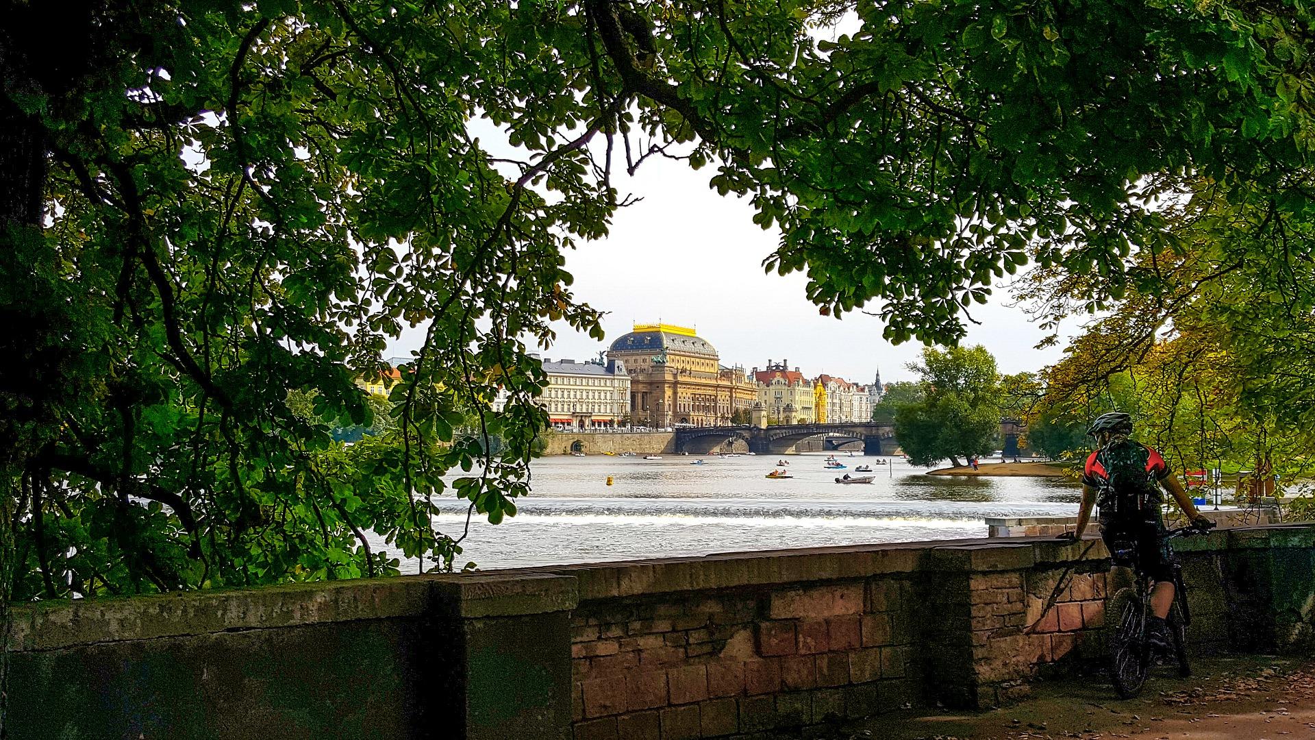 Biking in Prague