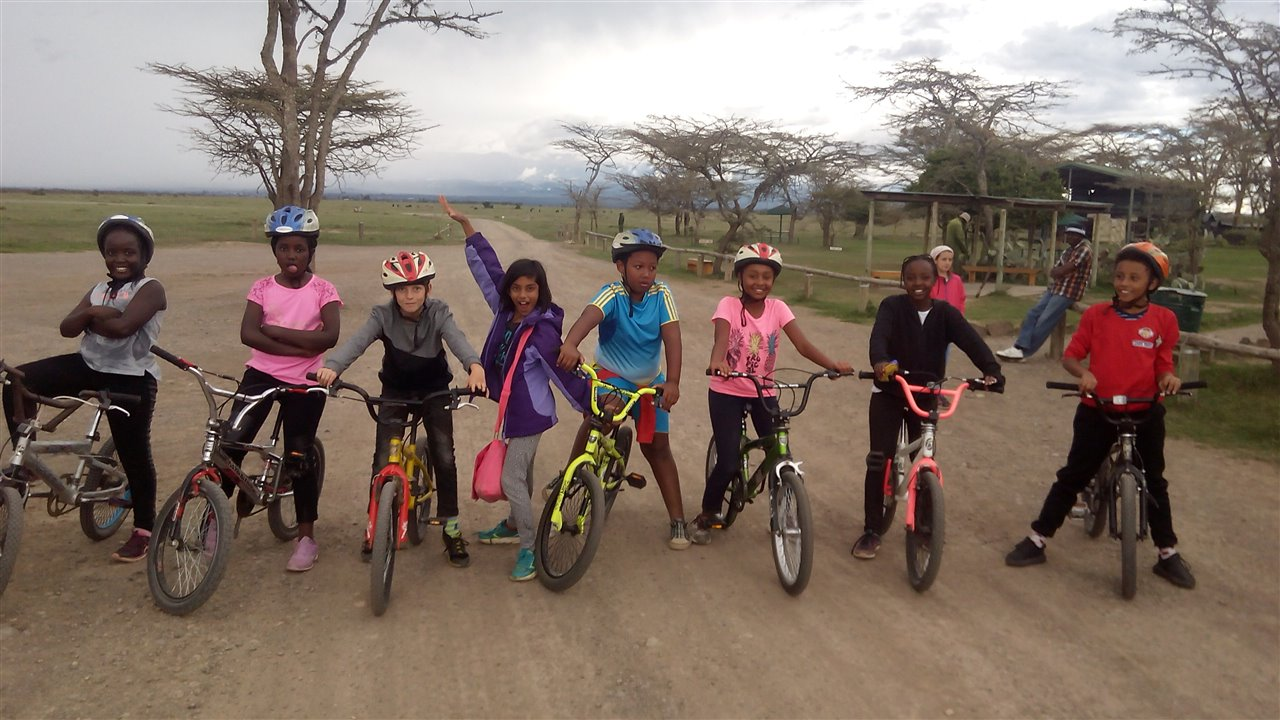 Biking at OI Pejeto Kenya