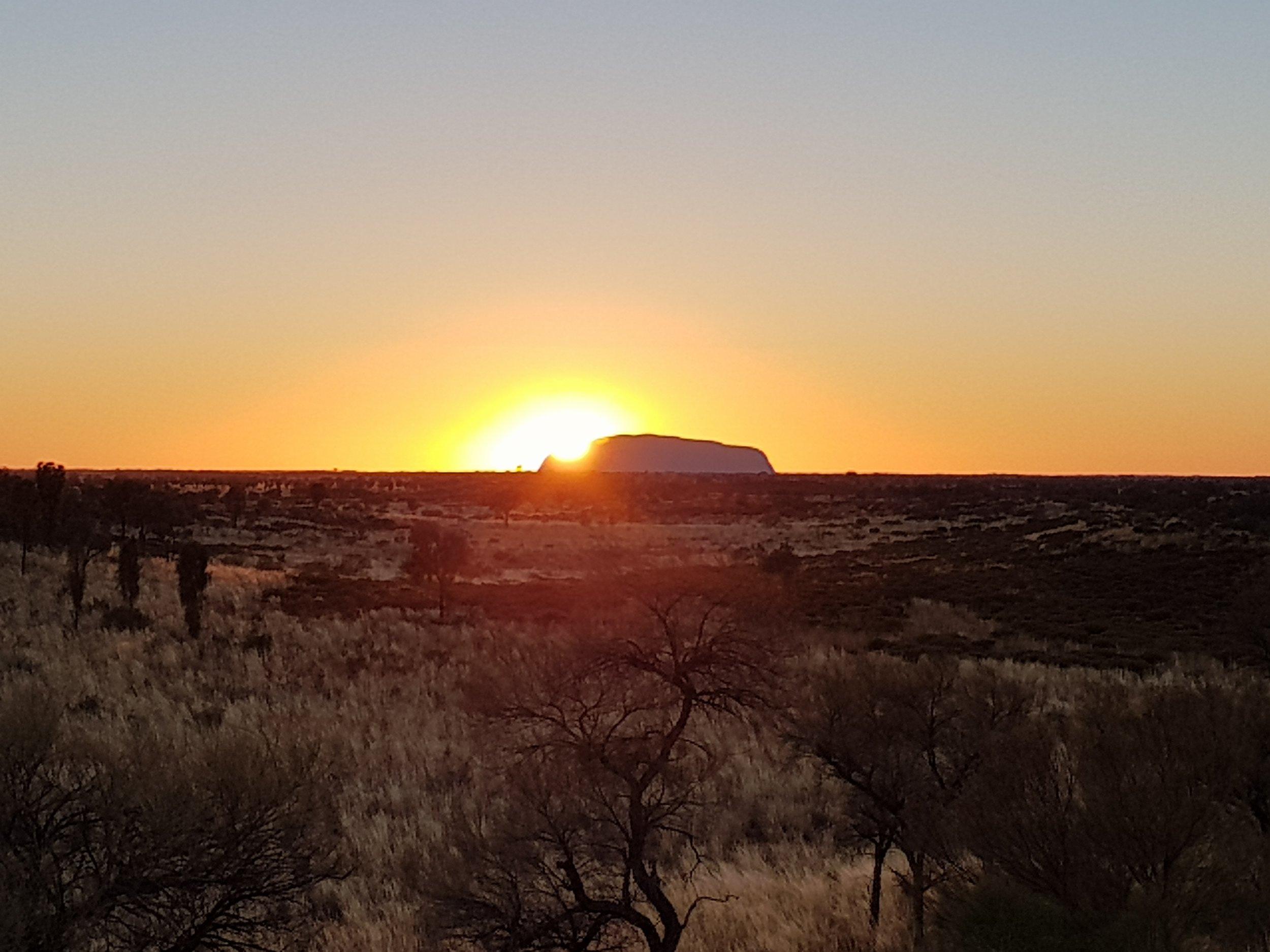 Sunrise in Uluru