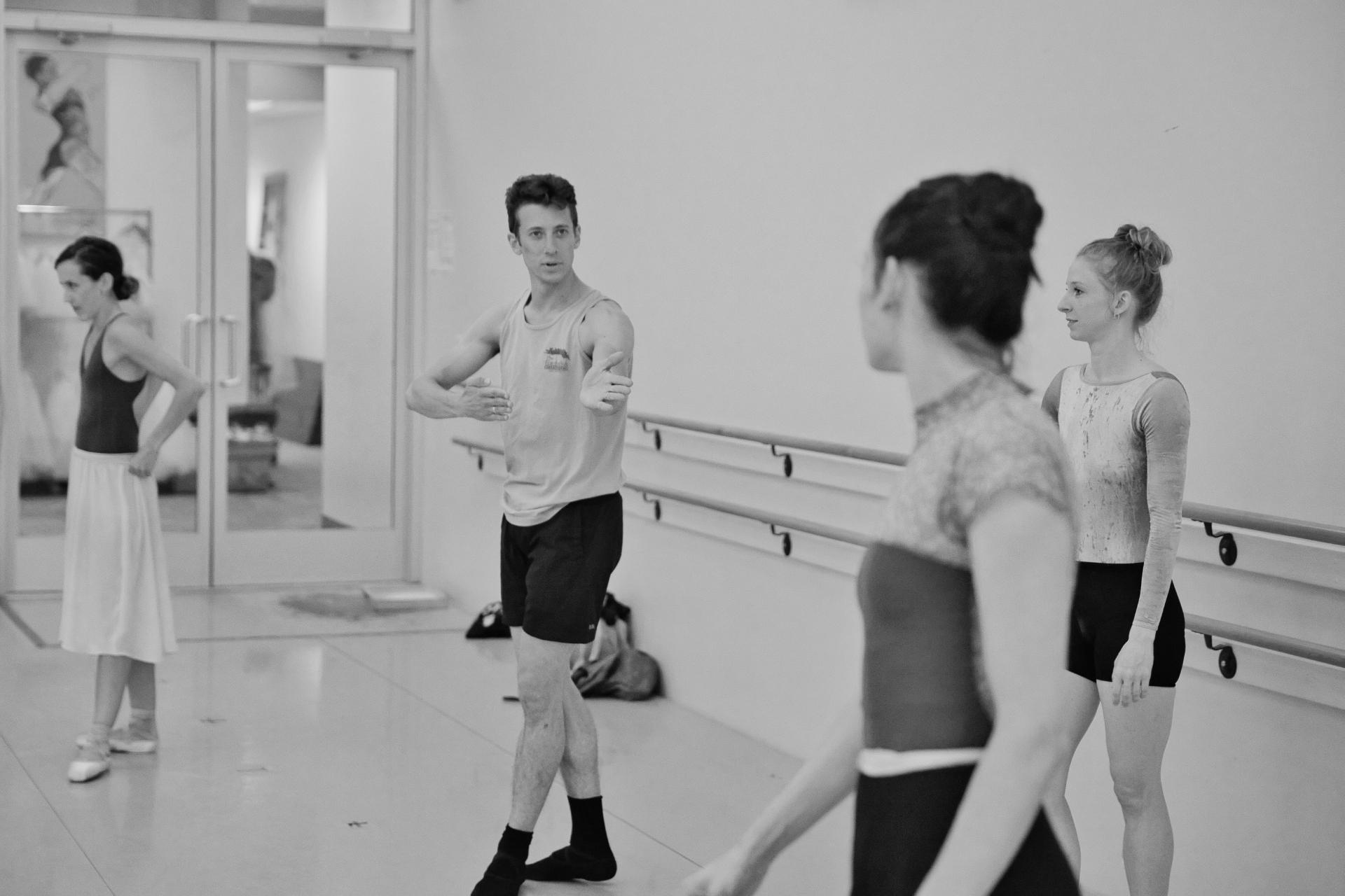 ©Brian Simcoe. Rehearsal shot of 'Life After Human Life' - Shaker Loops