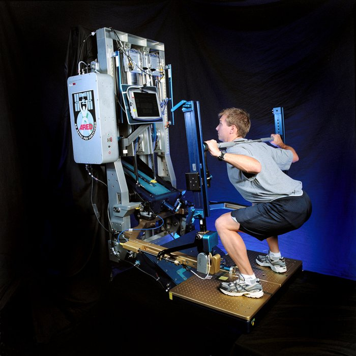NASA's Advanced Resistive Exercise Device (Photo credit: NASA.)