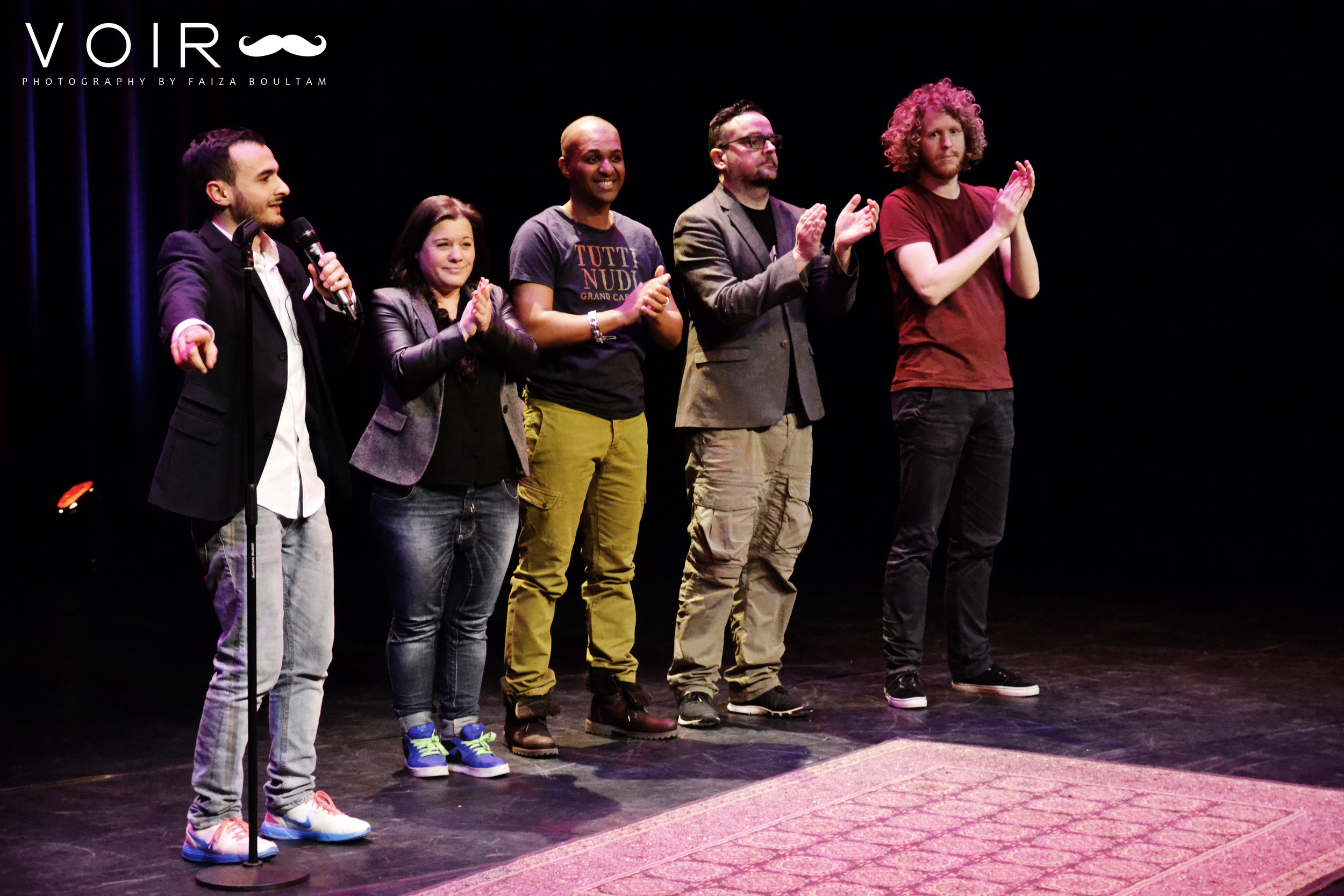 Farbod Moghaddam, Berit Companje, Samir Fighil, Arie Koomen, Kasper van der Laan
