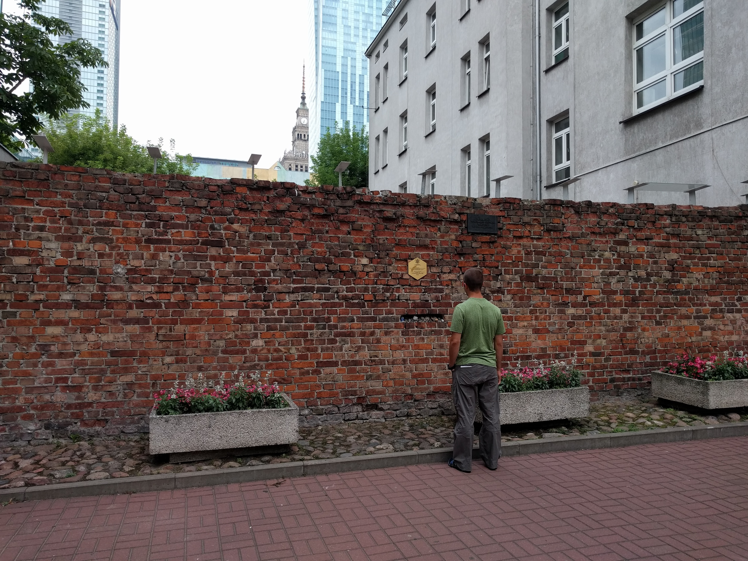 Last standing piece of the Jewish Ghetto wall. Currently located in the middle of an apartment complex.
