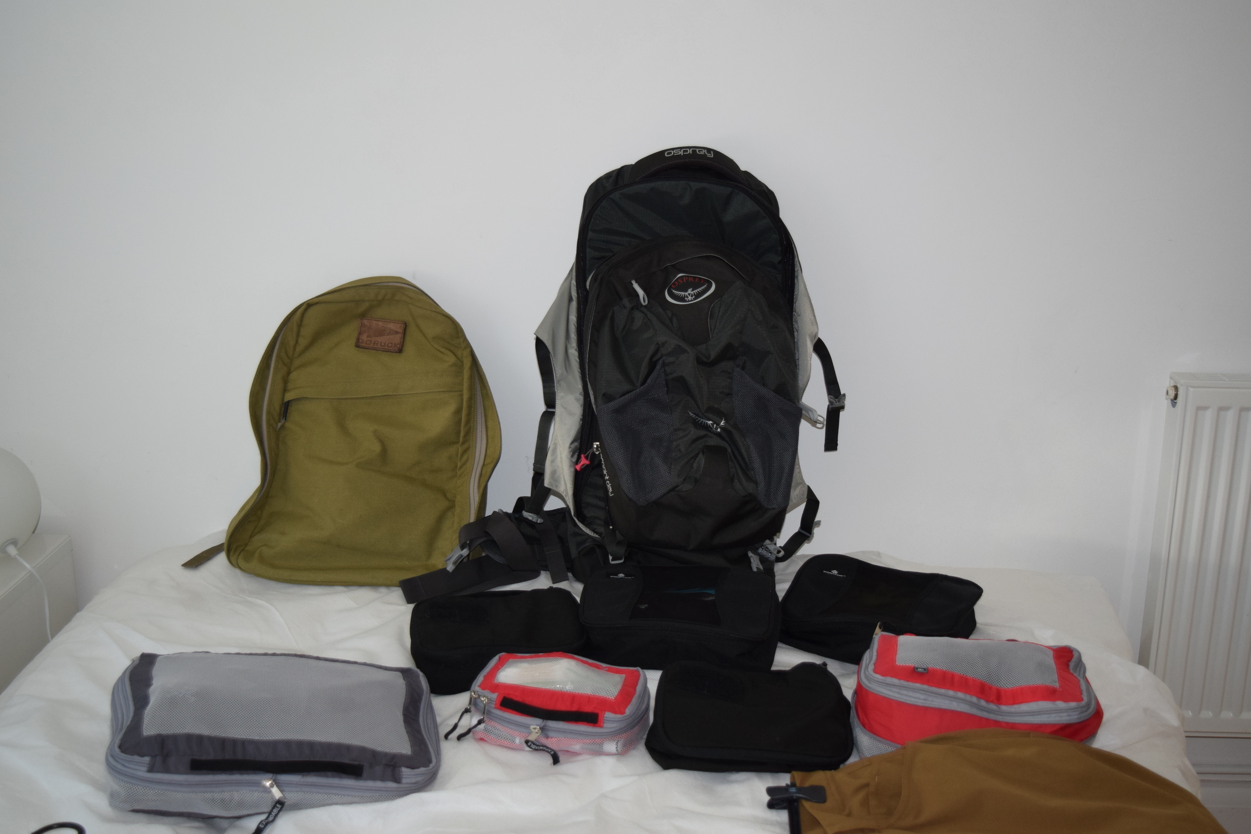 Bags and packing cubes