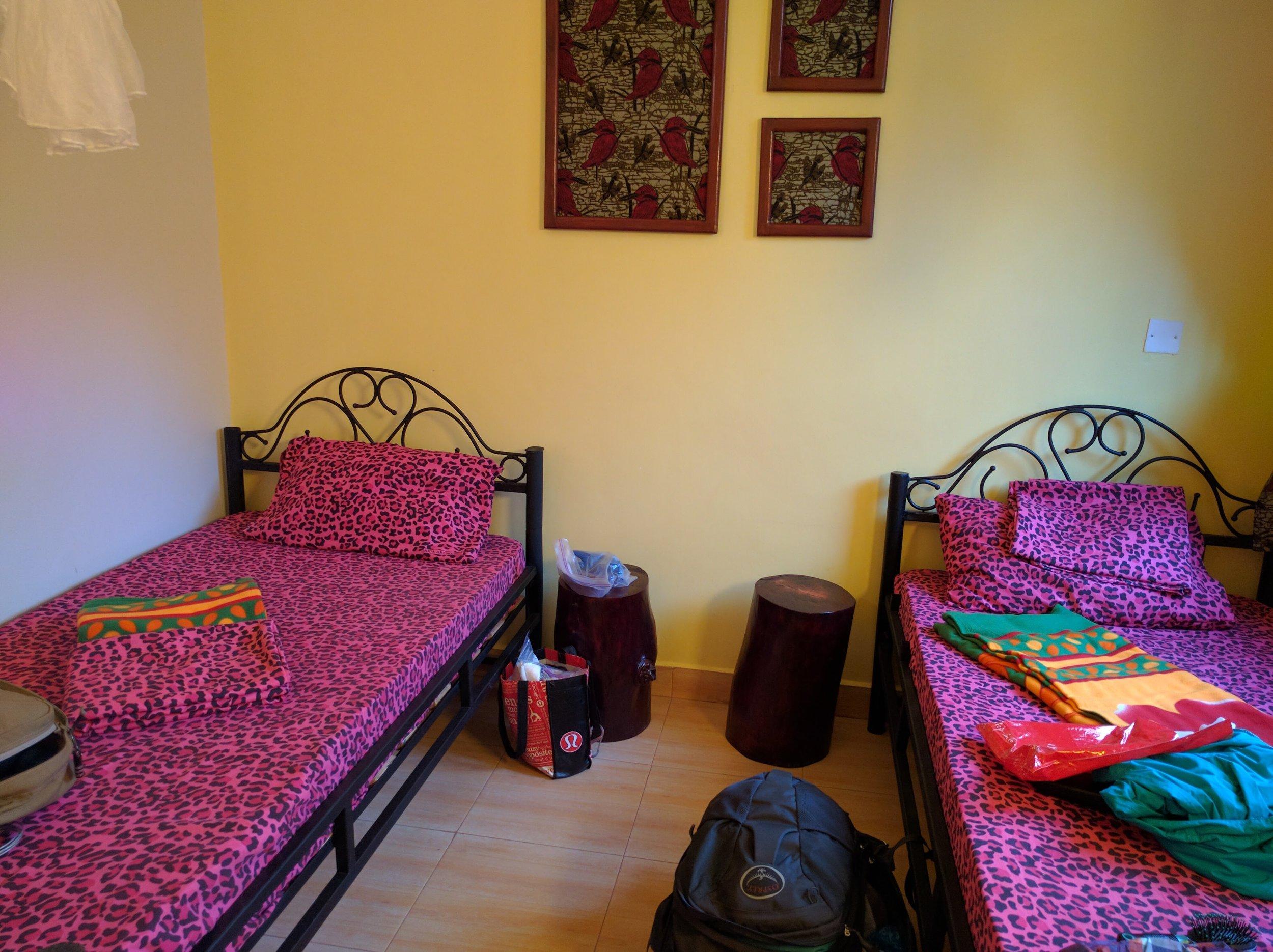 Pimpin' bed sheets at Rafiki Backpackers
