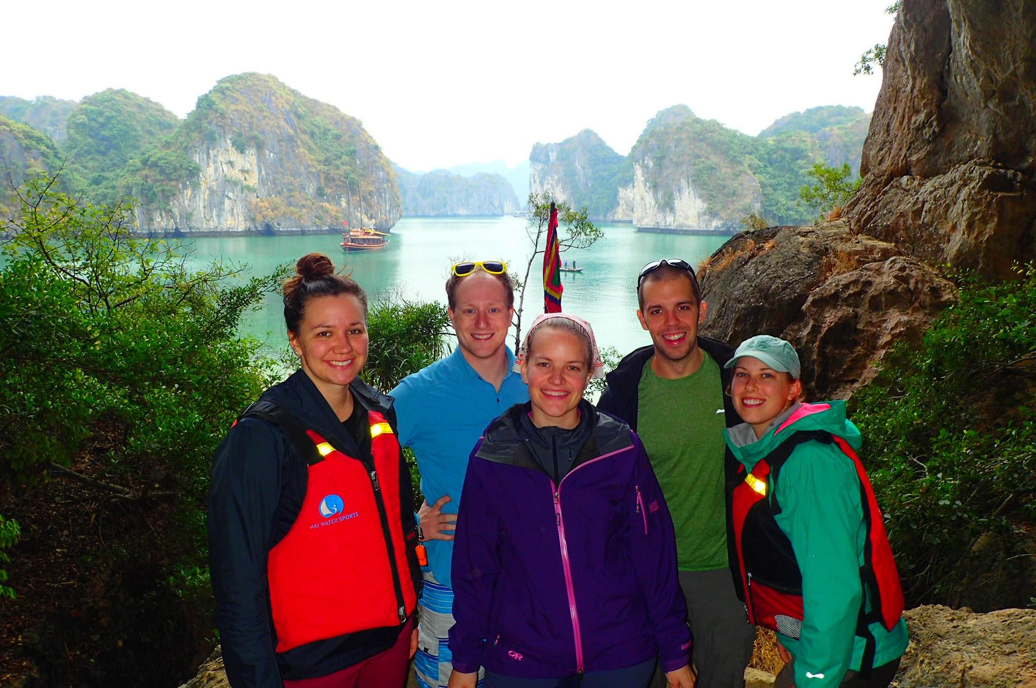 Bri, Chip, Marie, Jeff and Cara in Lan Ha Bay!
