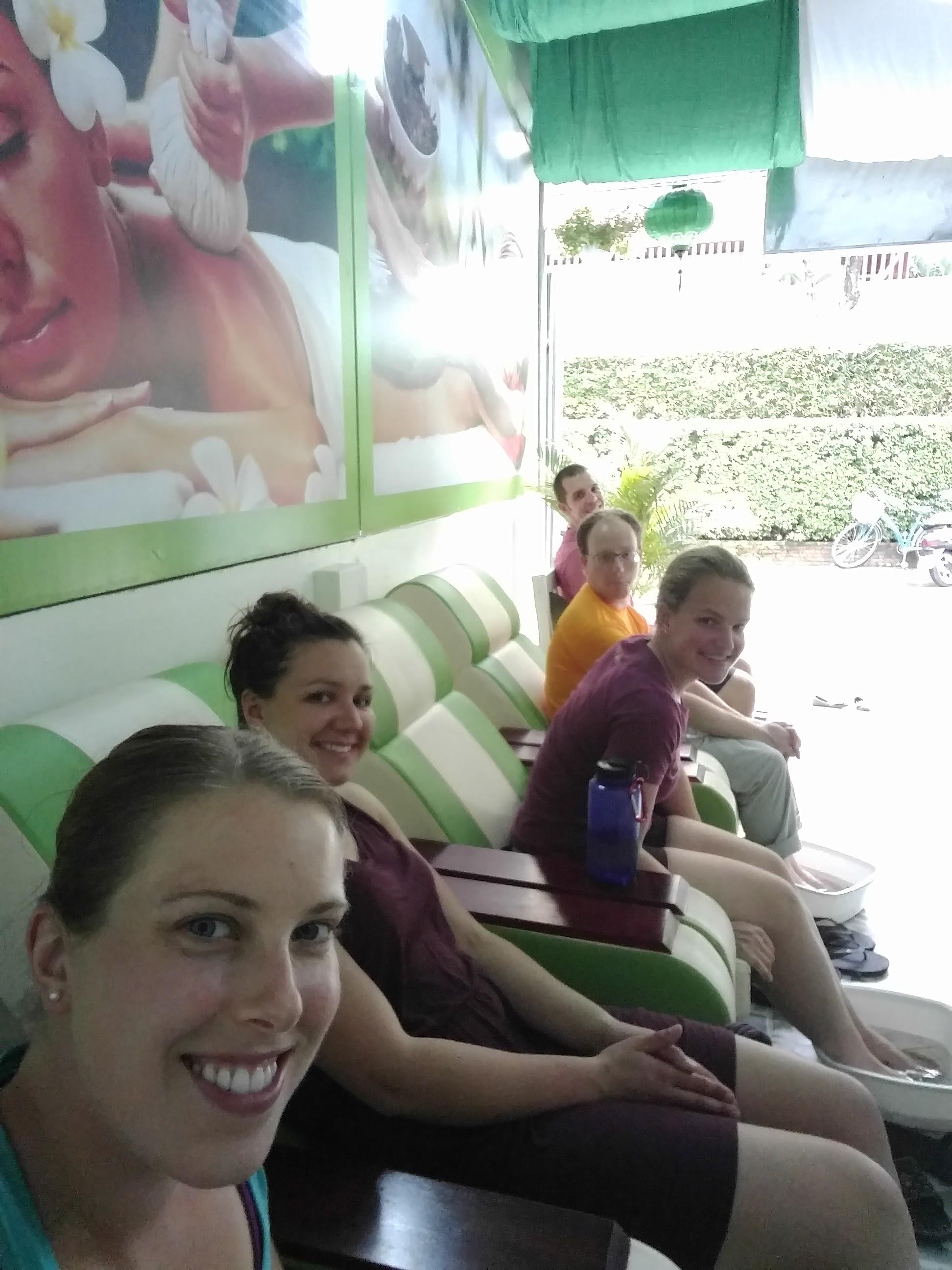 Pre-massage selfie
